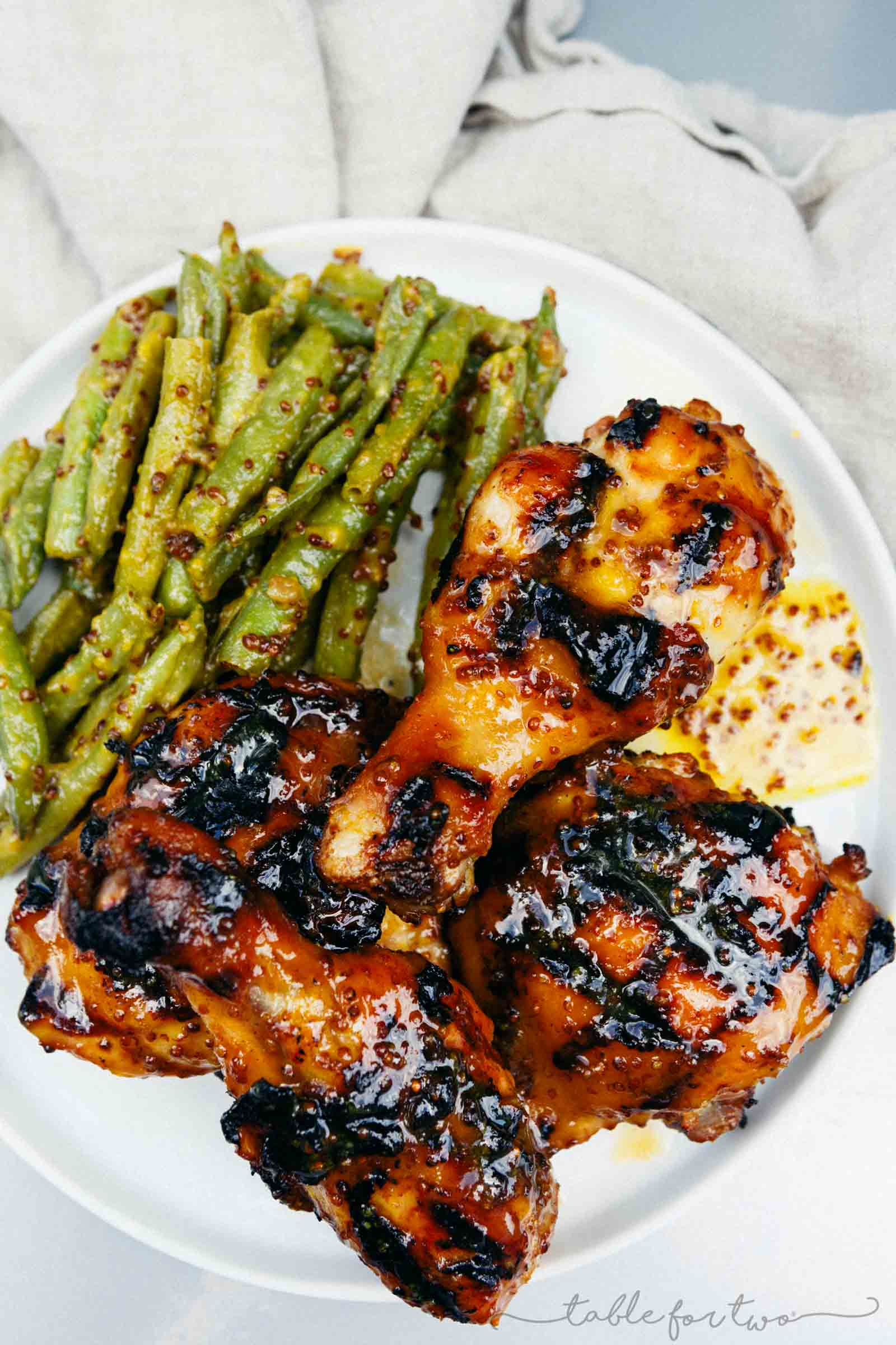 Grilled Honey Mustard Chicken  recipe by  Table for Two