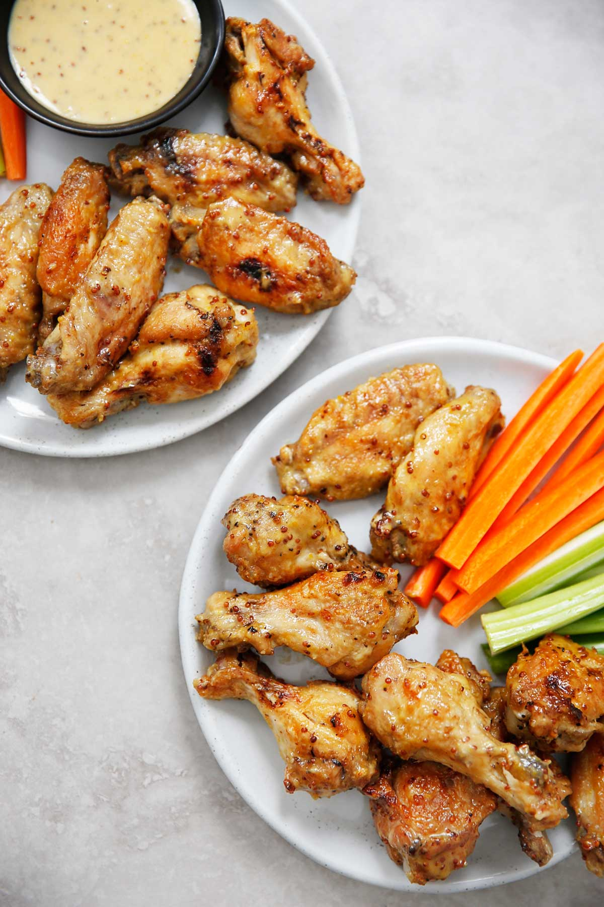 Honey Mustard Chicken Wings  by  Lexi's Clean Kitchen