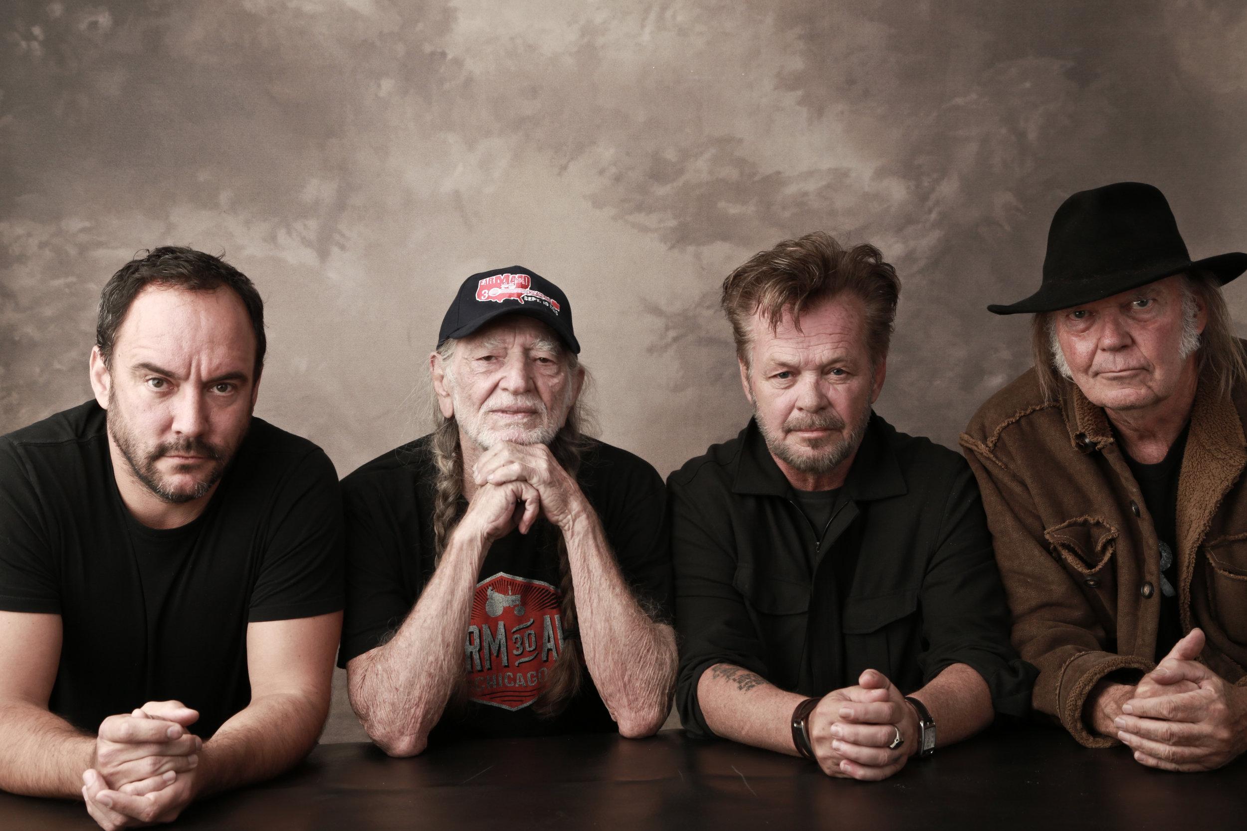 Dave Matthews, Willie Nelson, John Mellencamp, Neil Young | photo: FarmAid.org