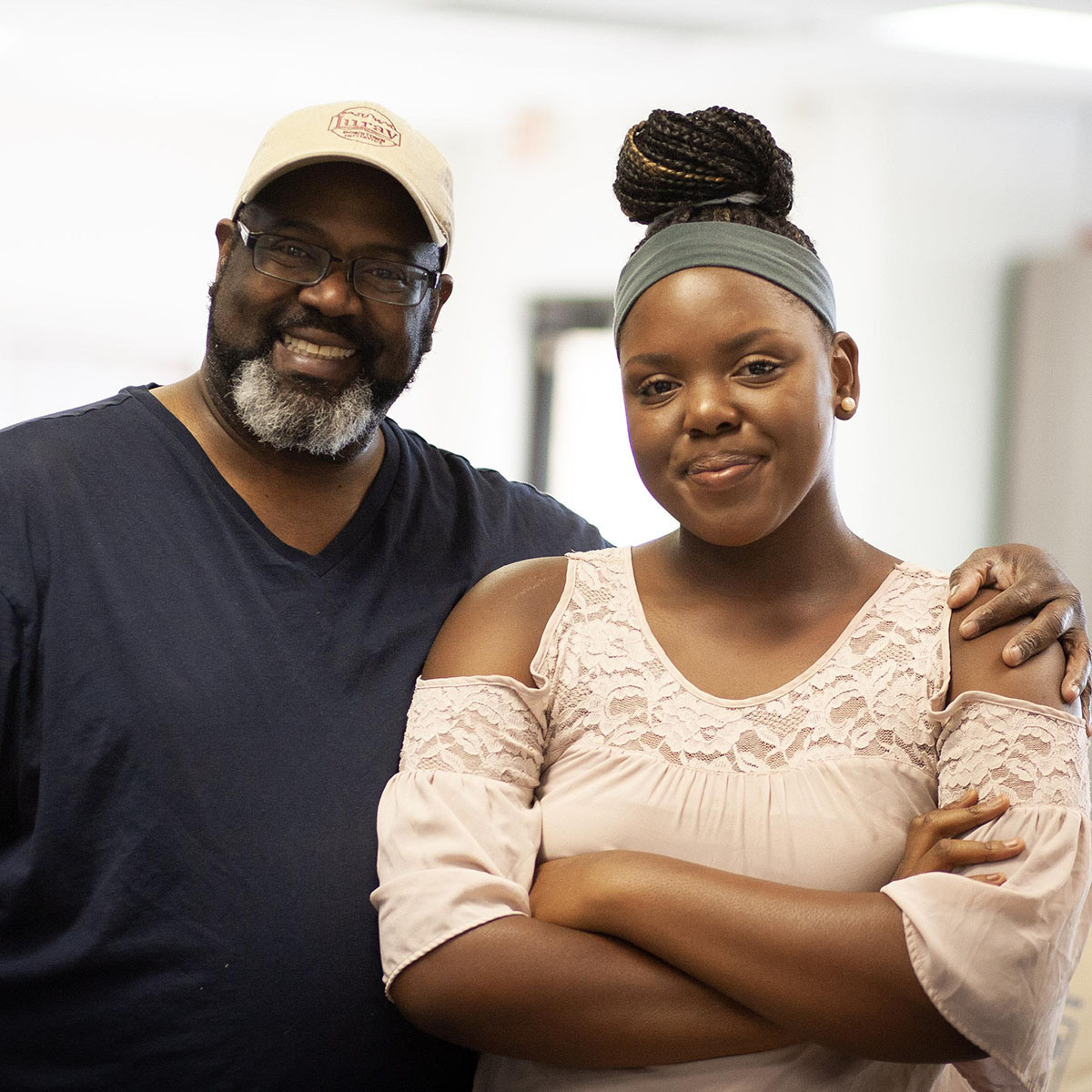 Maurice Norman and his daughter