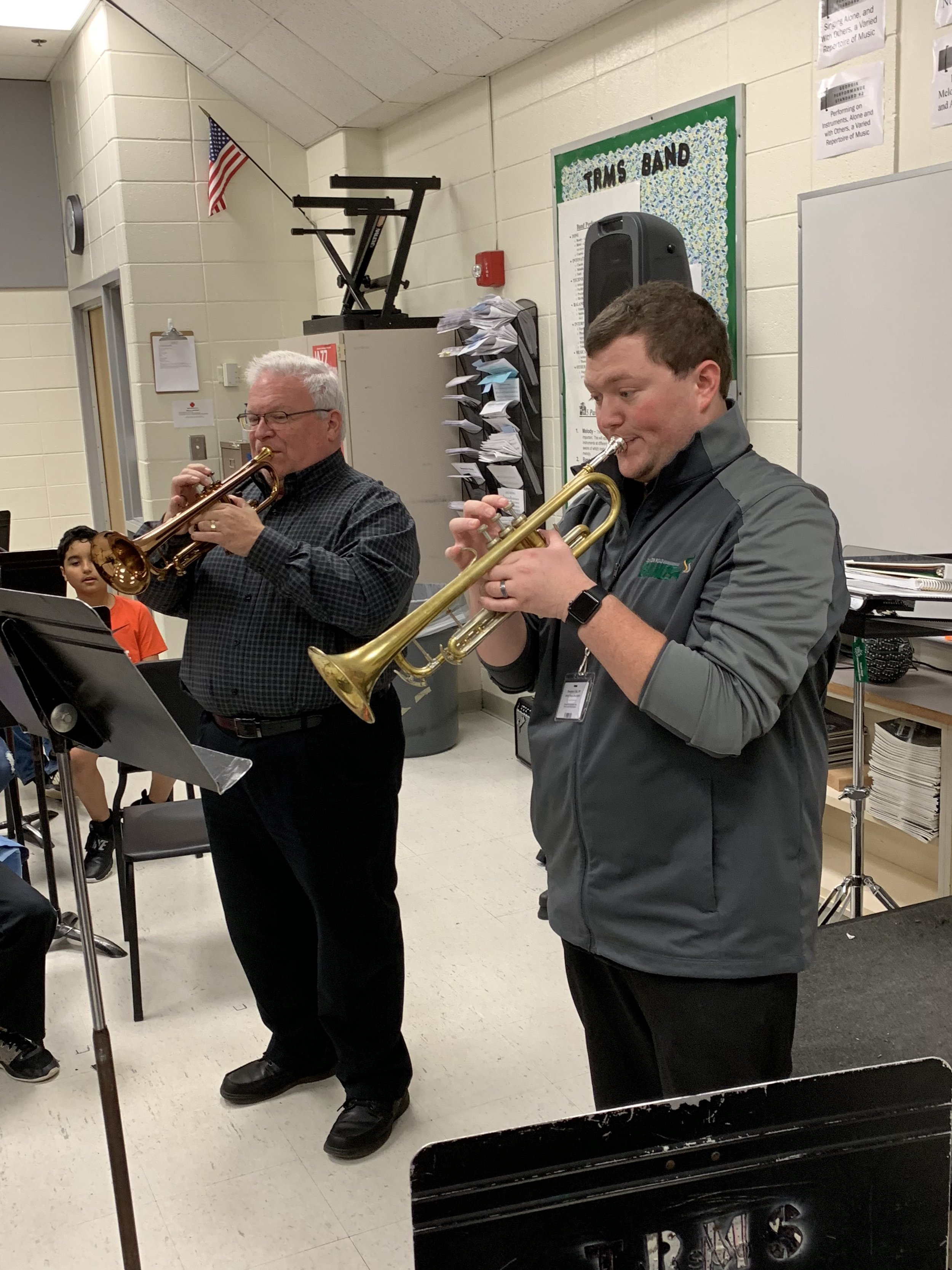 Mr. Soloff and Dr. Murray played some duets and showcased lots of musicality!