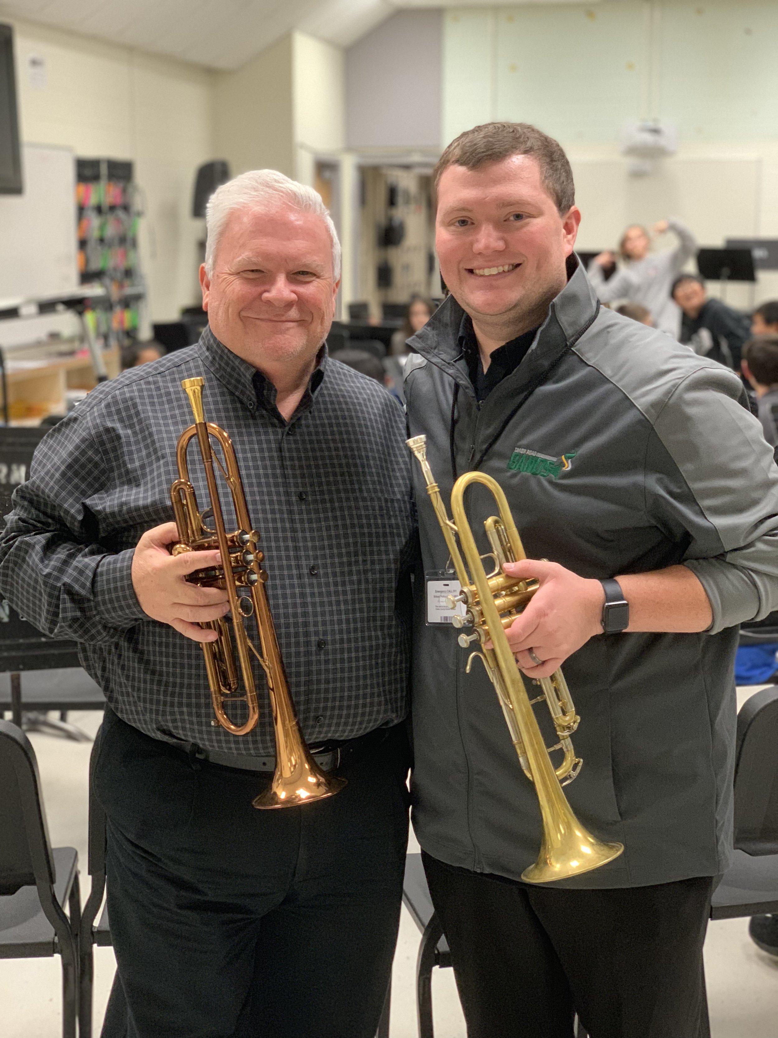Dr. Murray was Mr. Soloff's trumpet professor in college!