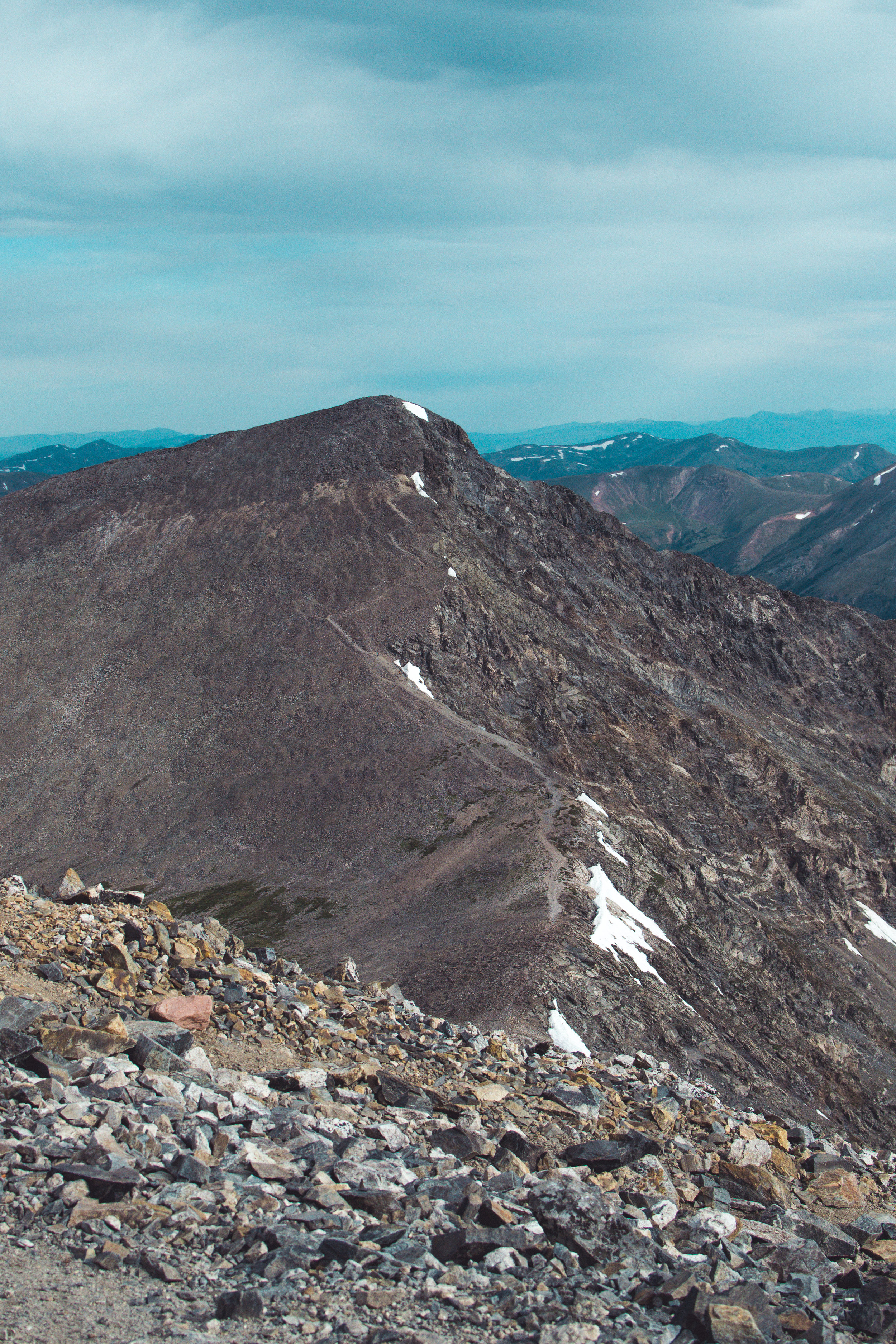 The view of Torreys from Grays and the saddle between the two peaks.