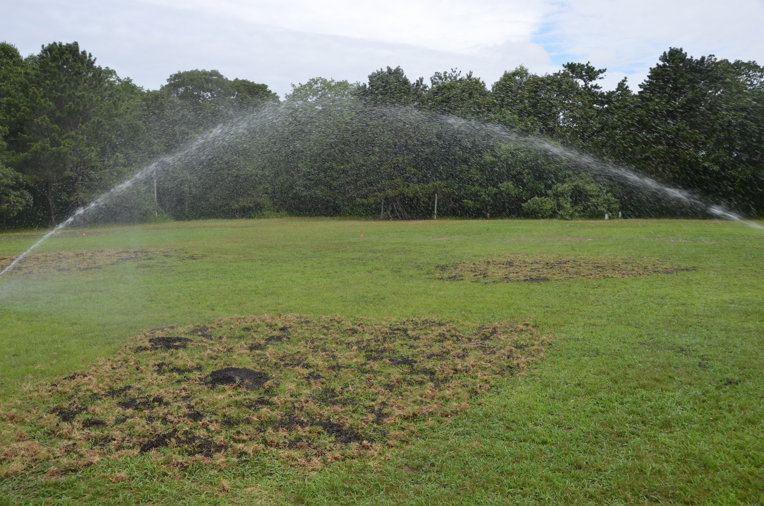 Testing the irrigation