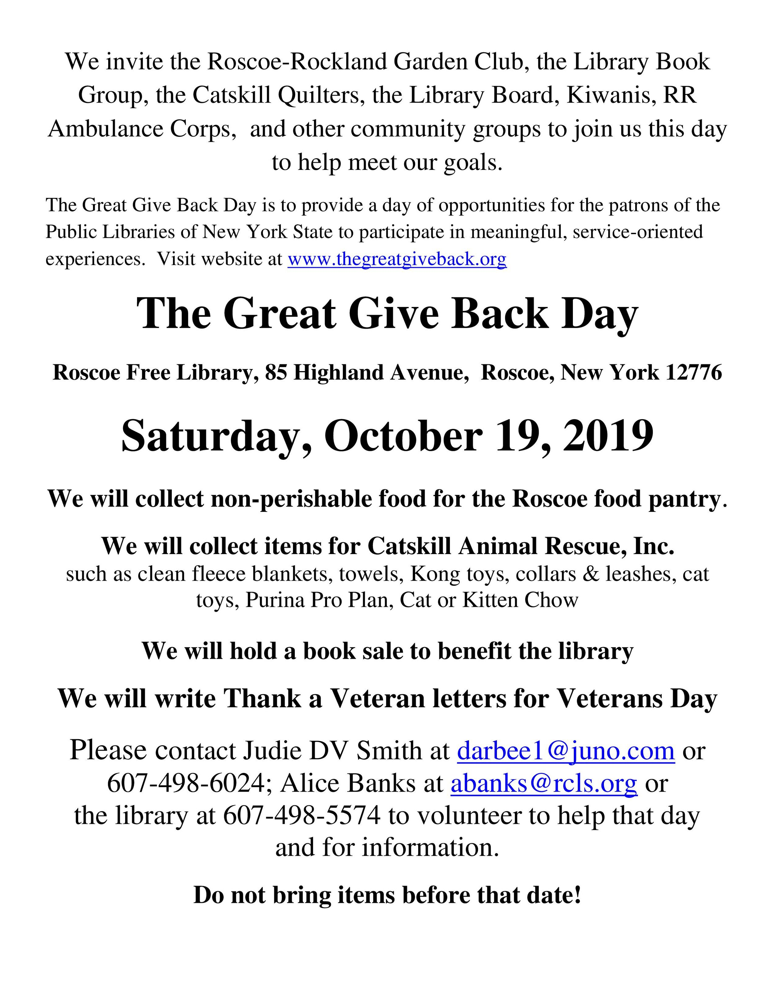 Great Give Back letter publicity to   be mailed and emailed to groups.jpg