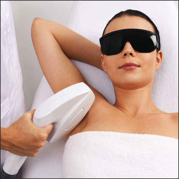 Photo of a woman getting IPL laser hair removal in Eltham