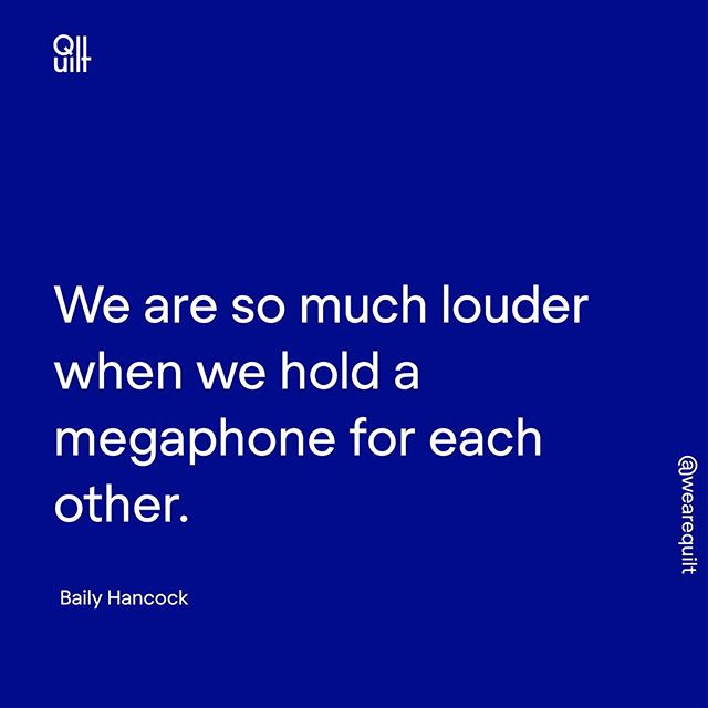 #OVERHEARDatQuilt in our recent LearnShop with @bailyhancock on why collaboration is the new competition. ⠀⠀⠀⠀⠀⠀⠀⠀⠀ Comment a 💙 if you agree. ⠀⠀⠀⠀⠀⠀⠀⠀⠀