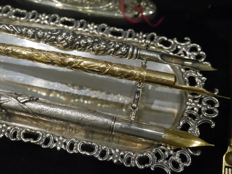 Collectible dip pens at the Fountain Pens at the London Writing Equipment Show