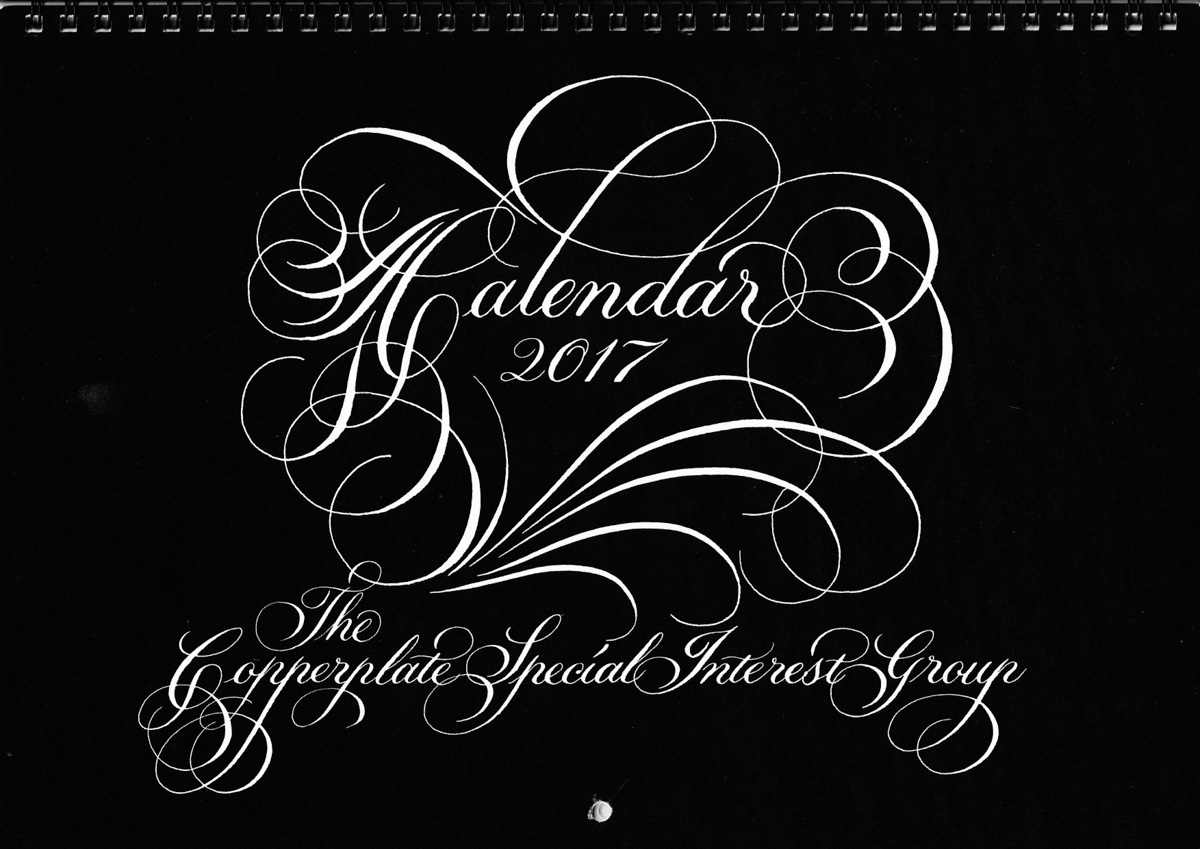 Copperplate Special Interest Group Calendar 2017 cover