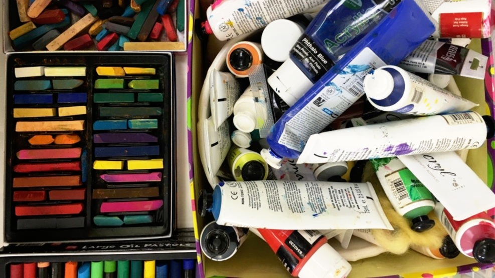Art Materials: Chalk Pastels, Oil Crayons, Finger Paints.