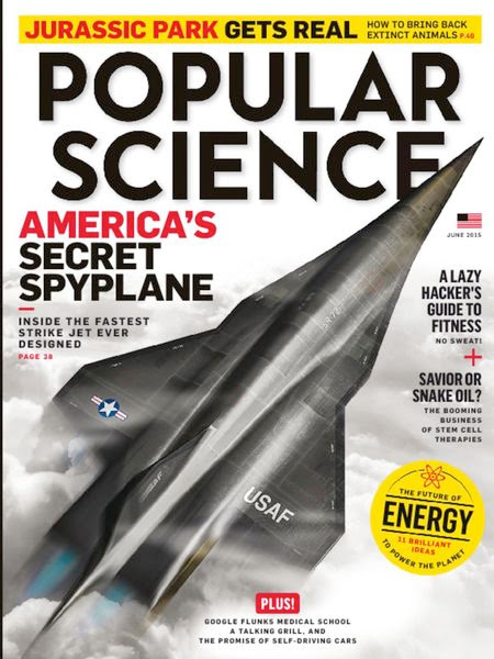 SR-72 Aircraft / June 2015 cover of Popular Science