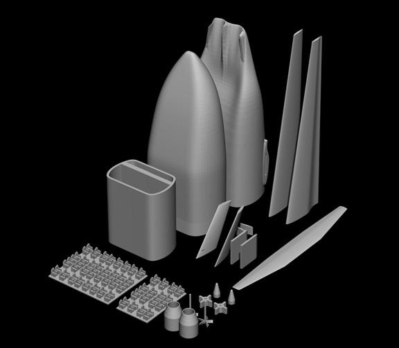 Render of the model setup to print (Don Foley)