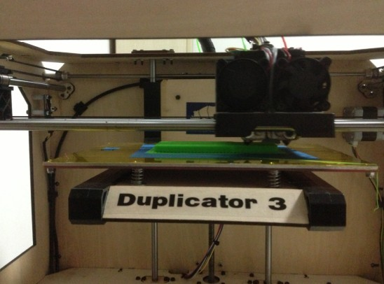 Busy Printing, our wanhao duplicator 3 works 24 hours/day. For 7 Days.