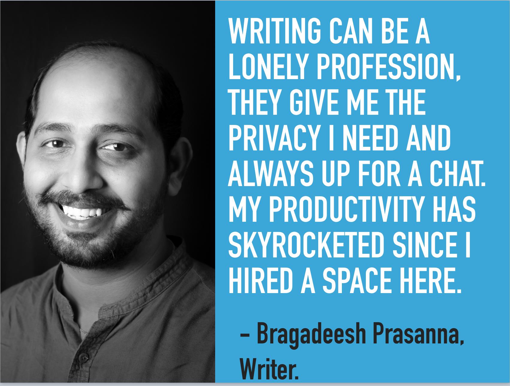 Our coworker Bragadeesh Prasanna