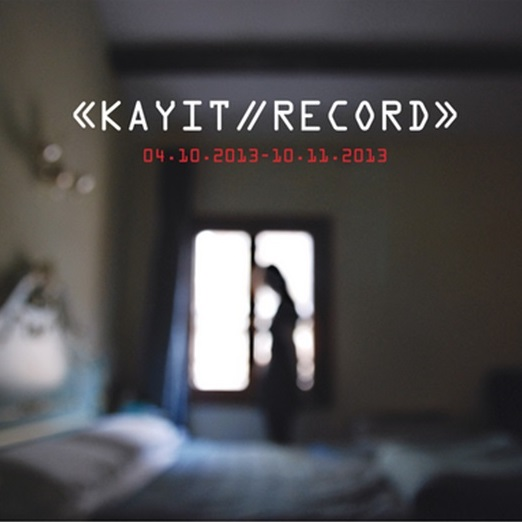 Record    (2013)   The multi-disciplinary exhibition Kayıt/Record focused on developing perspectives surrounding the effects on individual and social memory in contemporary art. The artists looked at the theme of records and recording, and now even more so where the lines between fiction and reality are becoming ever more blurred, and with our memories warped, Kayıt/Record group exhibition aimed at manipulating this through the viewpoint of the audience.