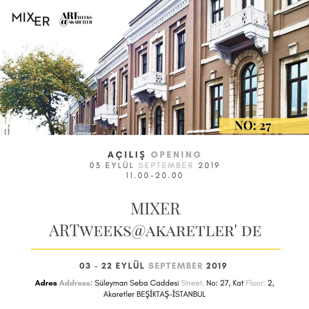 Mixer at Artweeks@Akaretler!