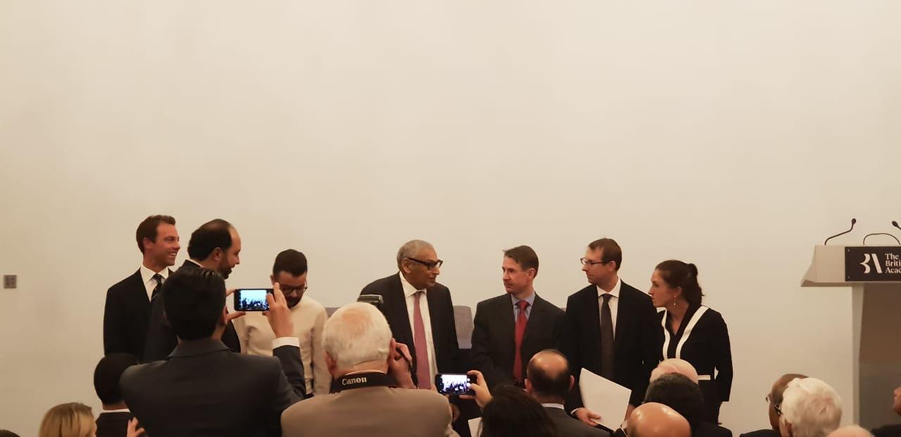 Winning authors with His Excellency Sheikh Mubarak Al Abdullah Al-Mubarak Al-Sabah and  His Excellency Mr Khaled Al-Duwaisan