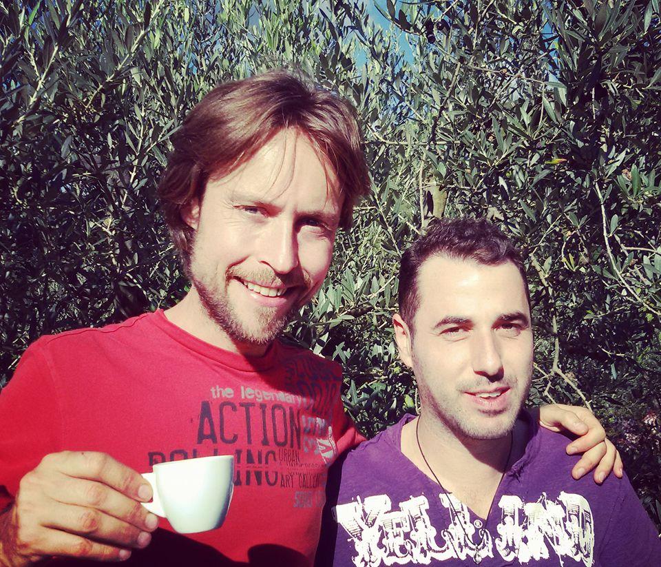 Io e Andrej Godina, in occasione del nostro primo incontro