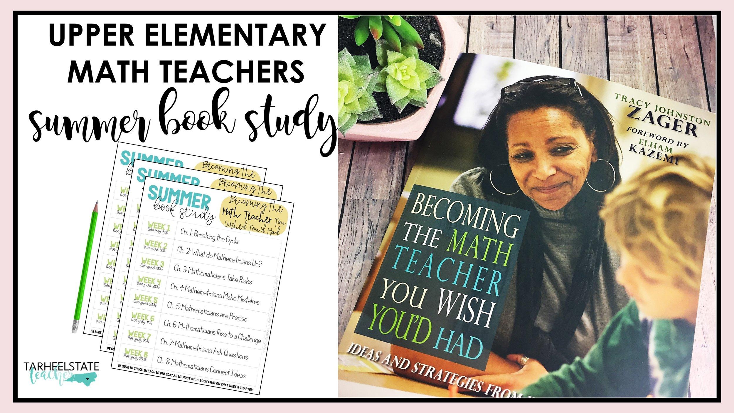 Becoming the Math Teacher You Wish Youd Had Book Study.JPG