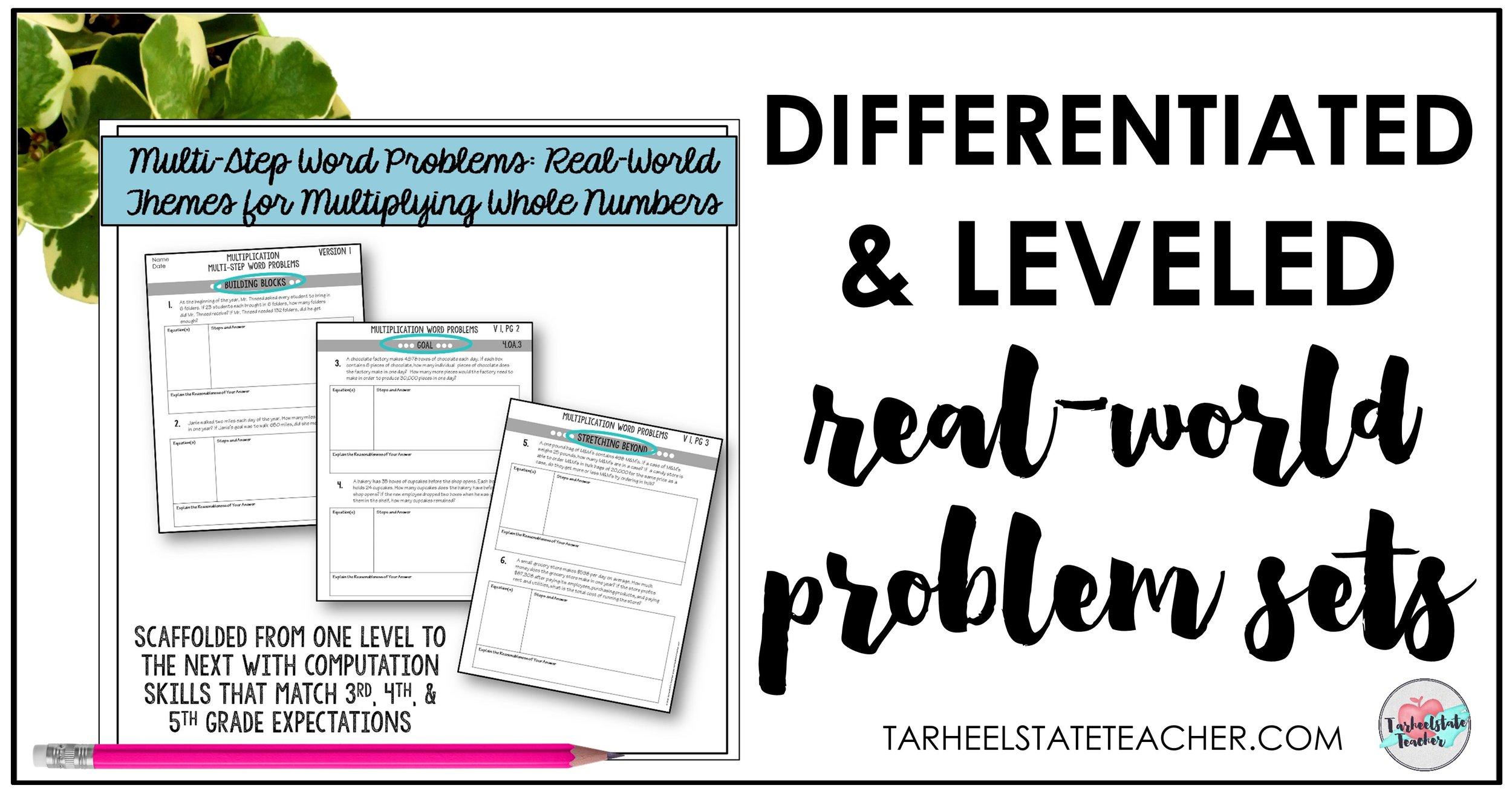 leveled tests assessments multiplication word problems.jpg