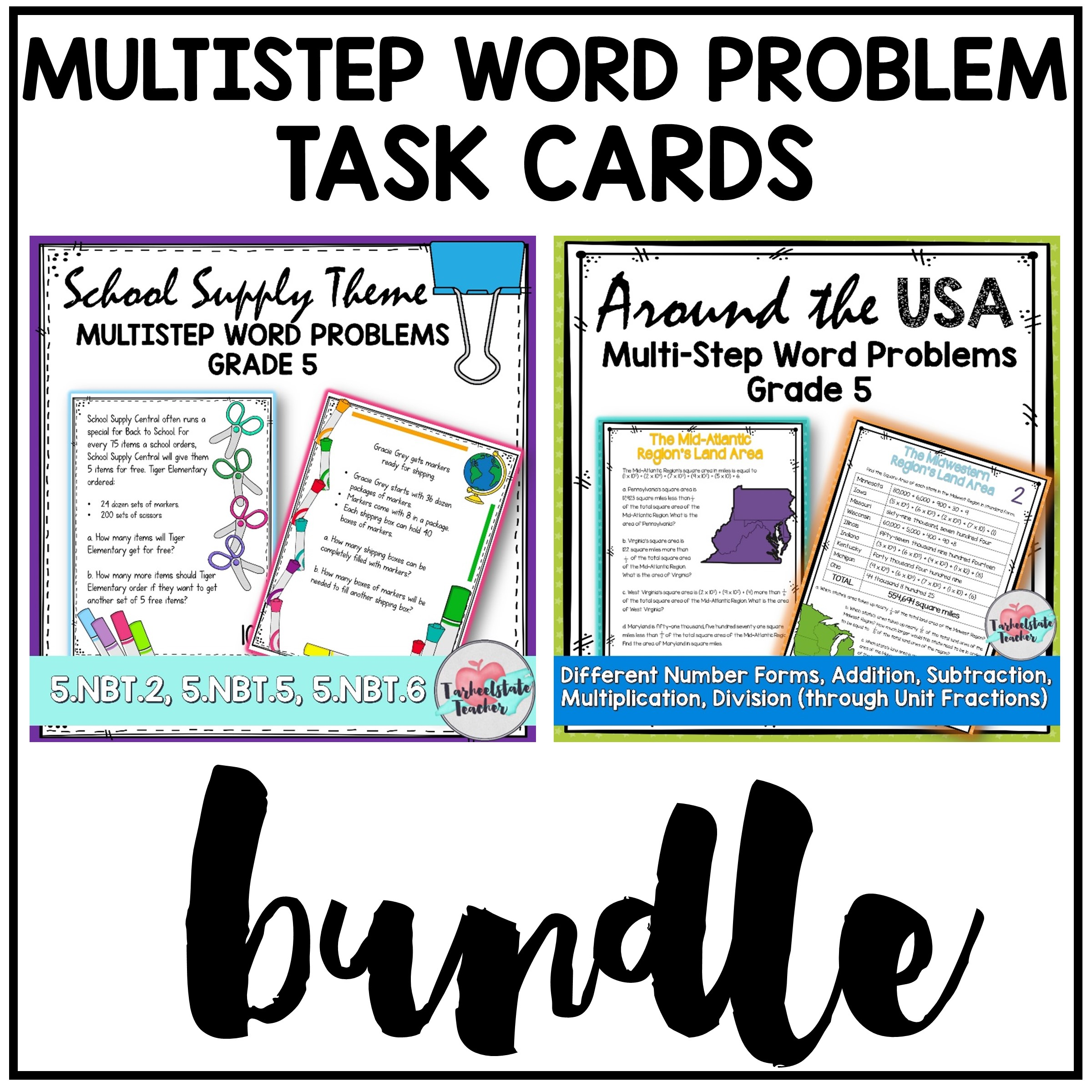 multistep word problems task cards
