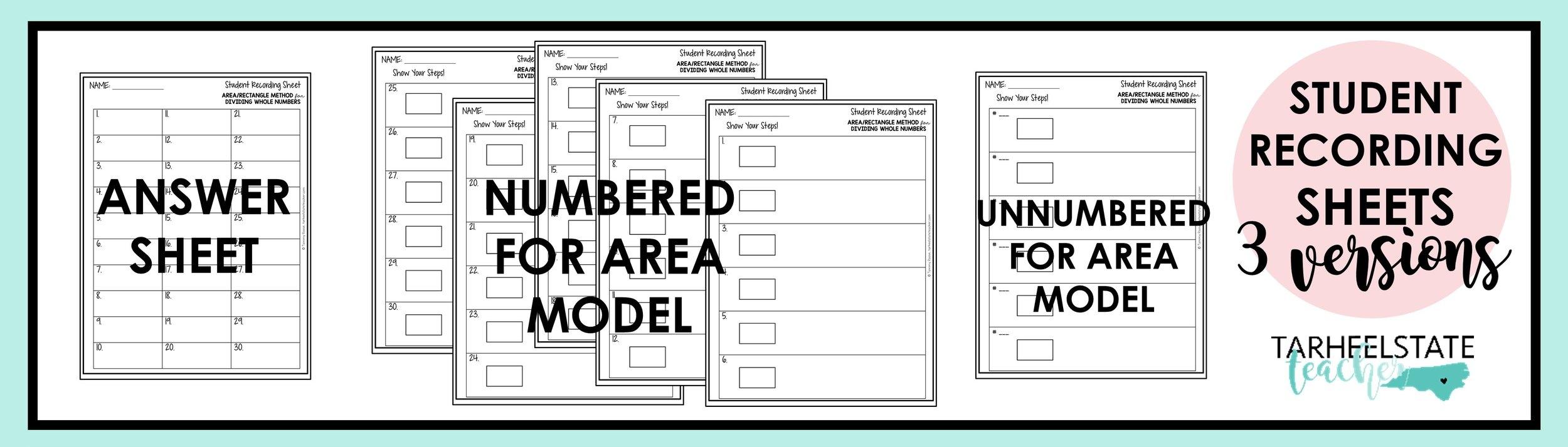area model task card recording sheets.jpg