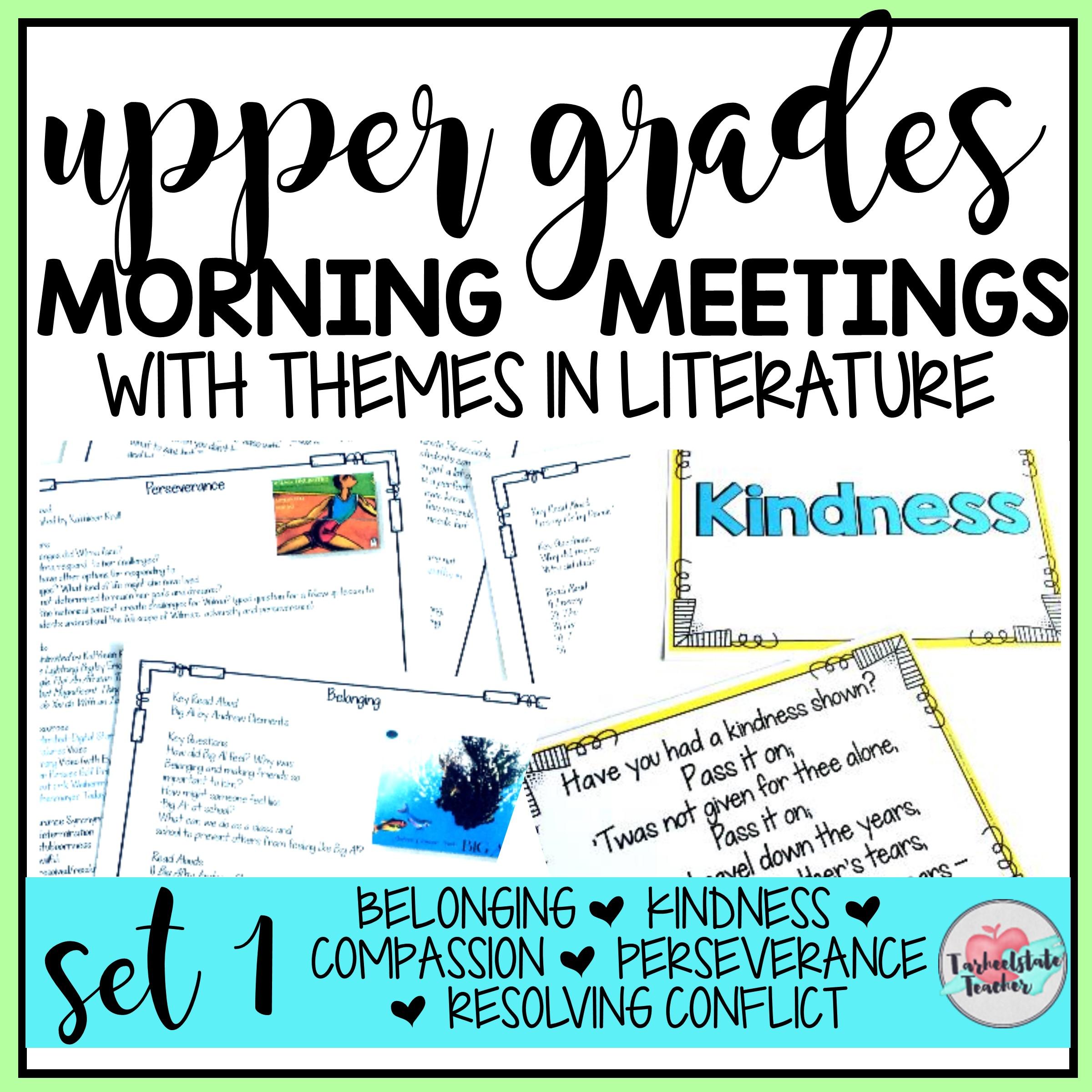MORNING MEETING TOPICS SET 1