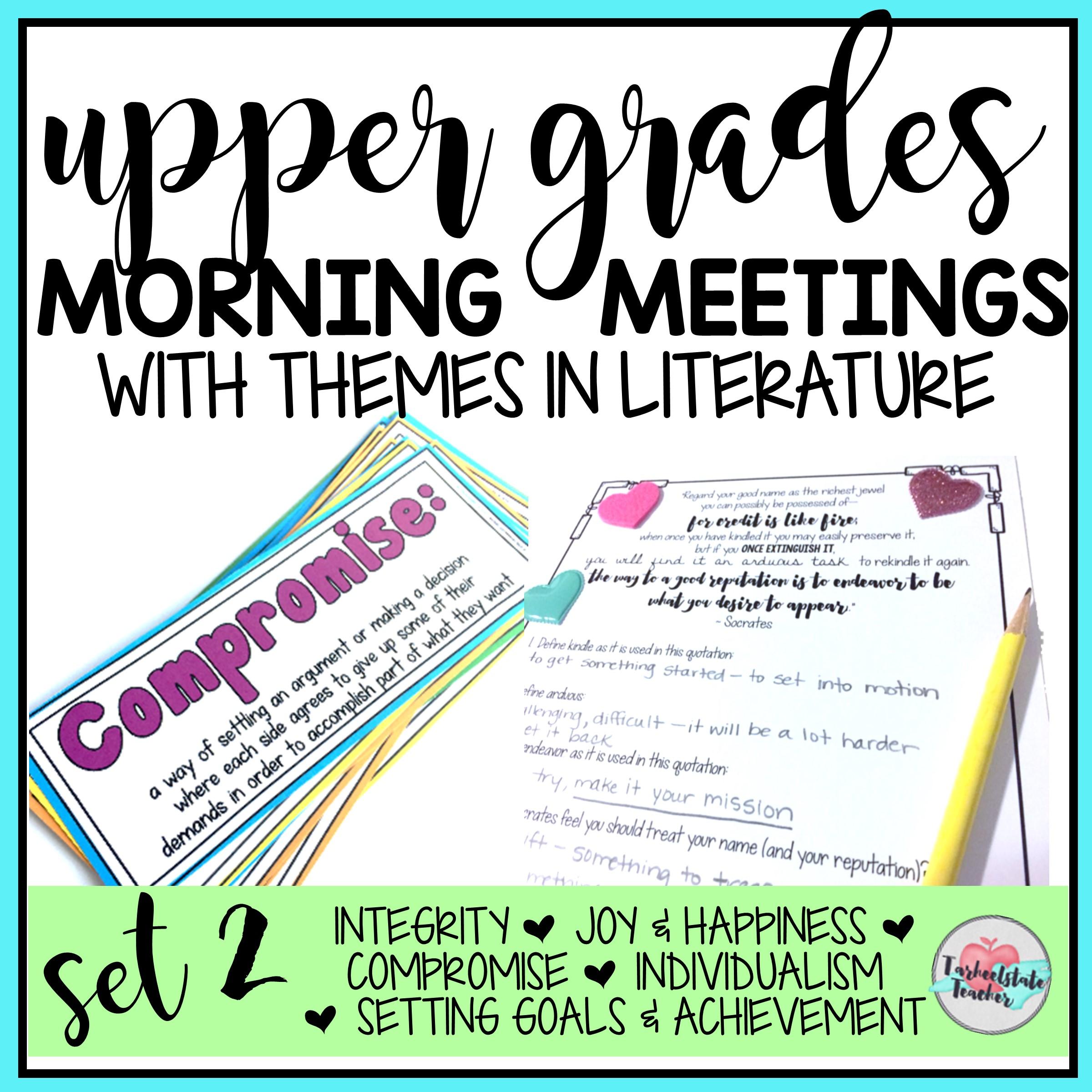 MORNING MEETING TOPICS SET 2