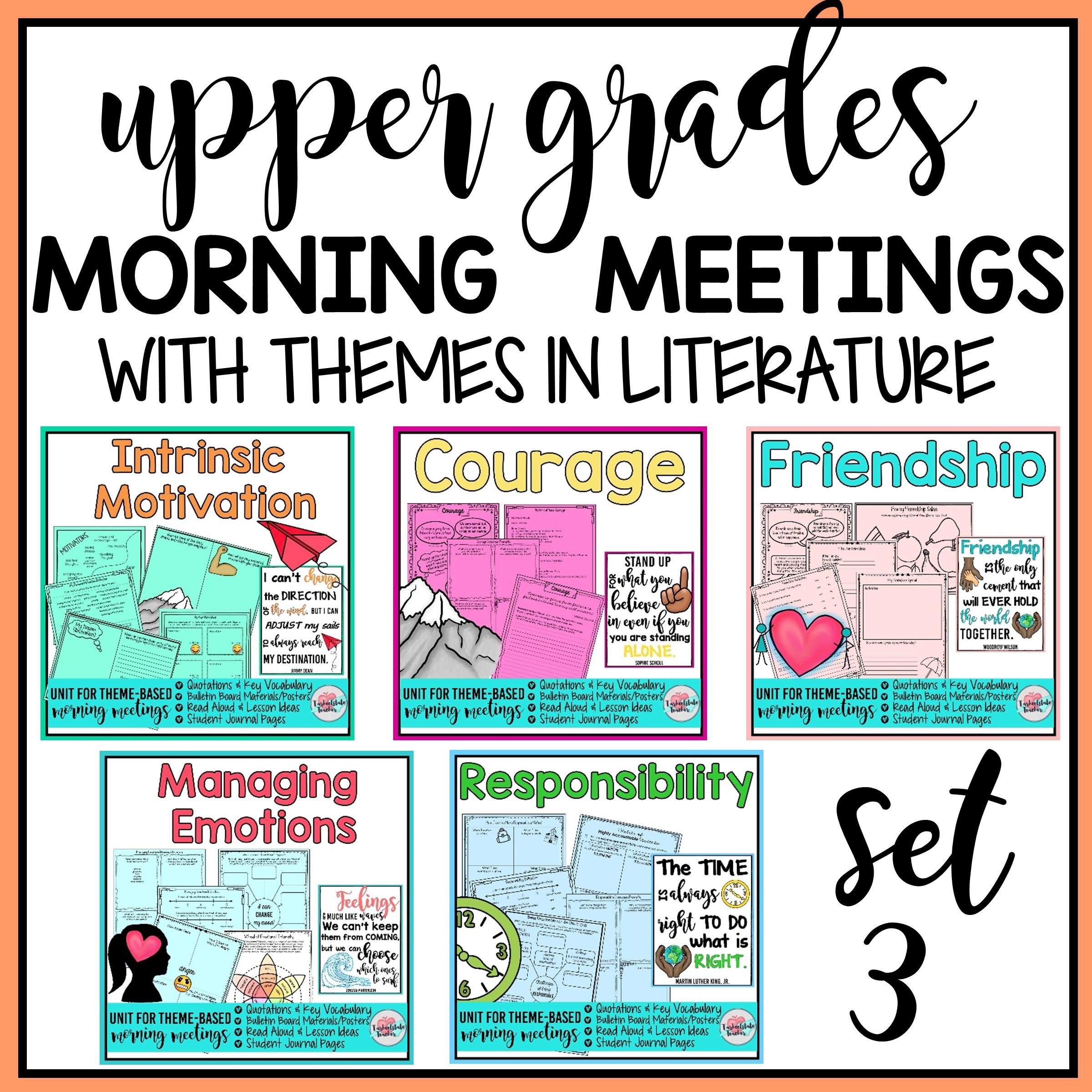 MORNING MEETING TOPICS SET 3