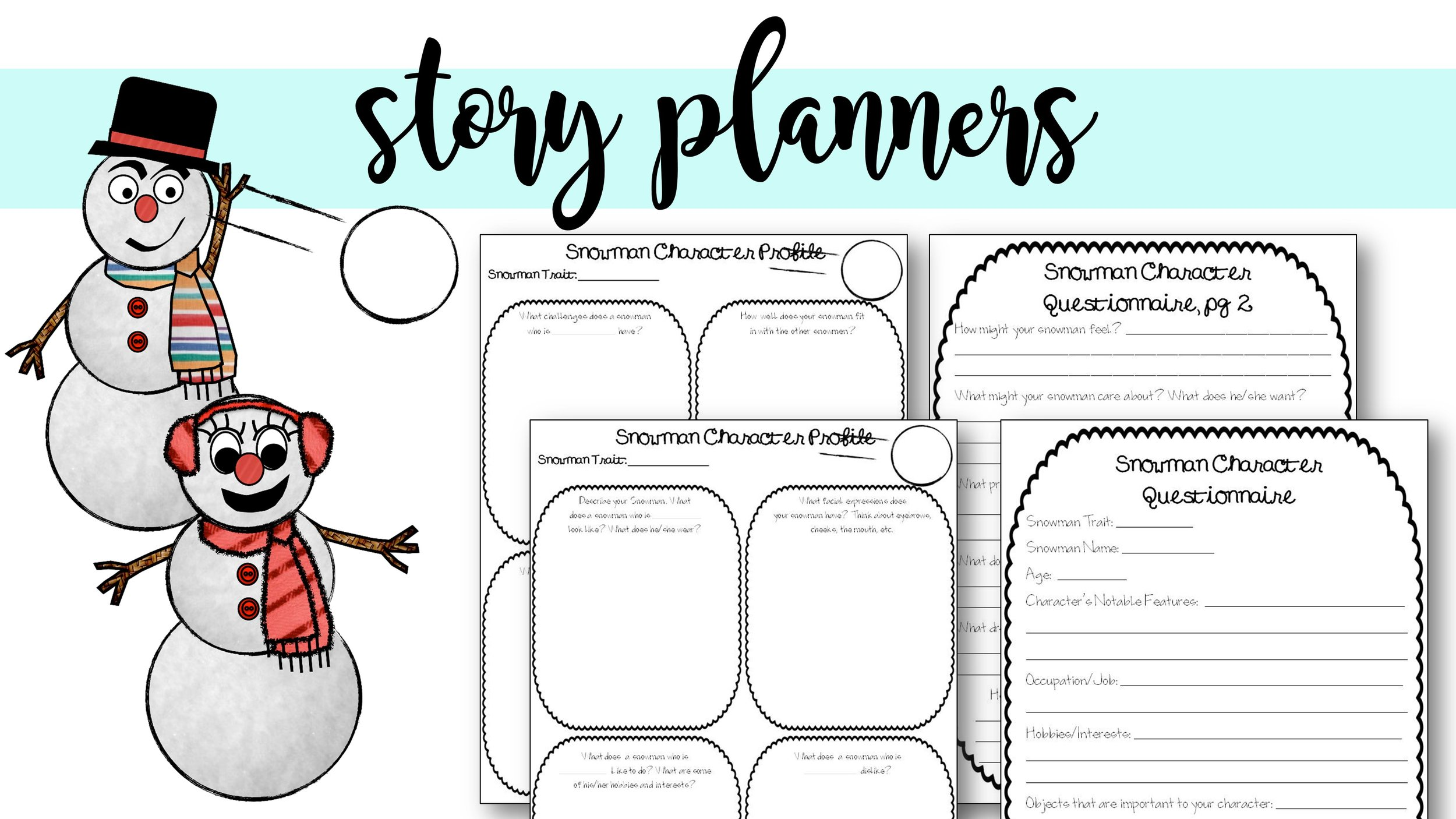 character planning graphic organizers character questionnaire