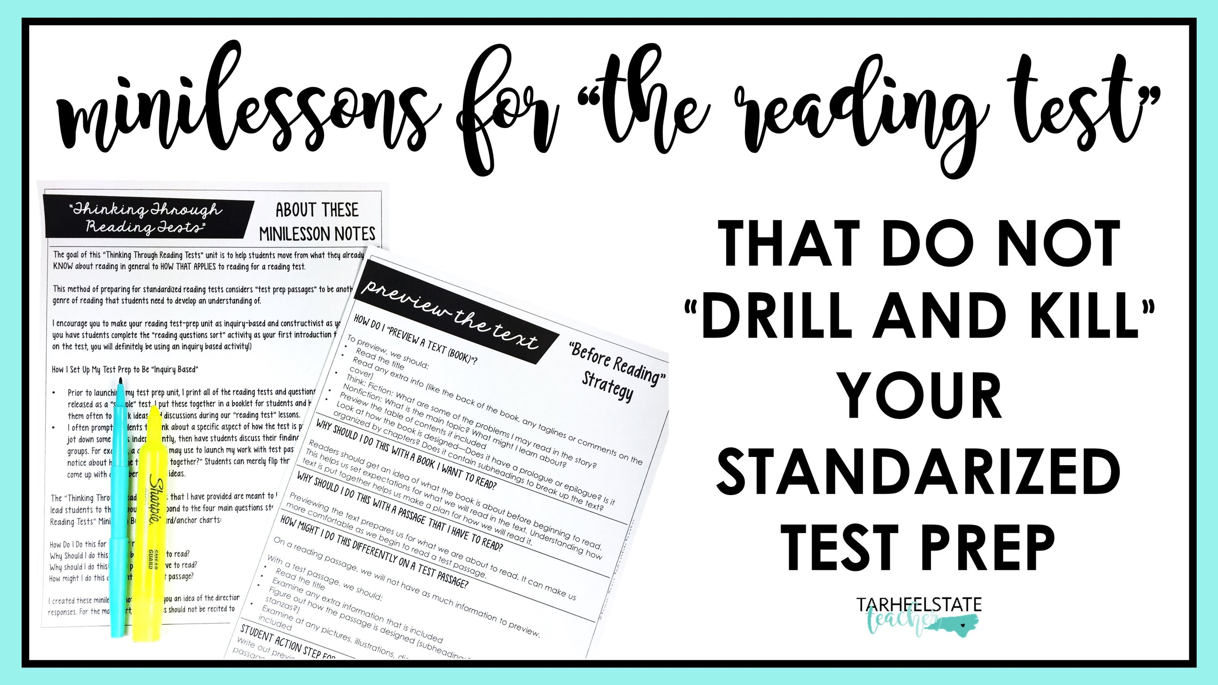 Reading Minilessons for Test Prep