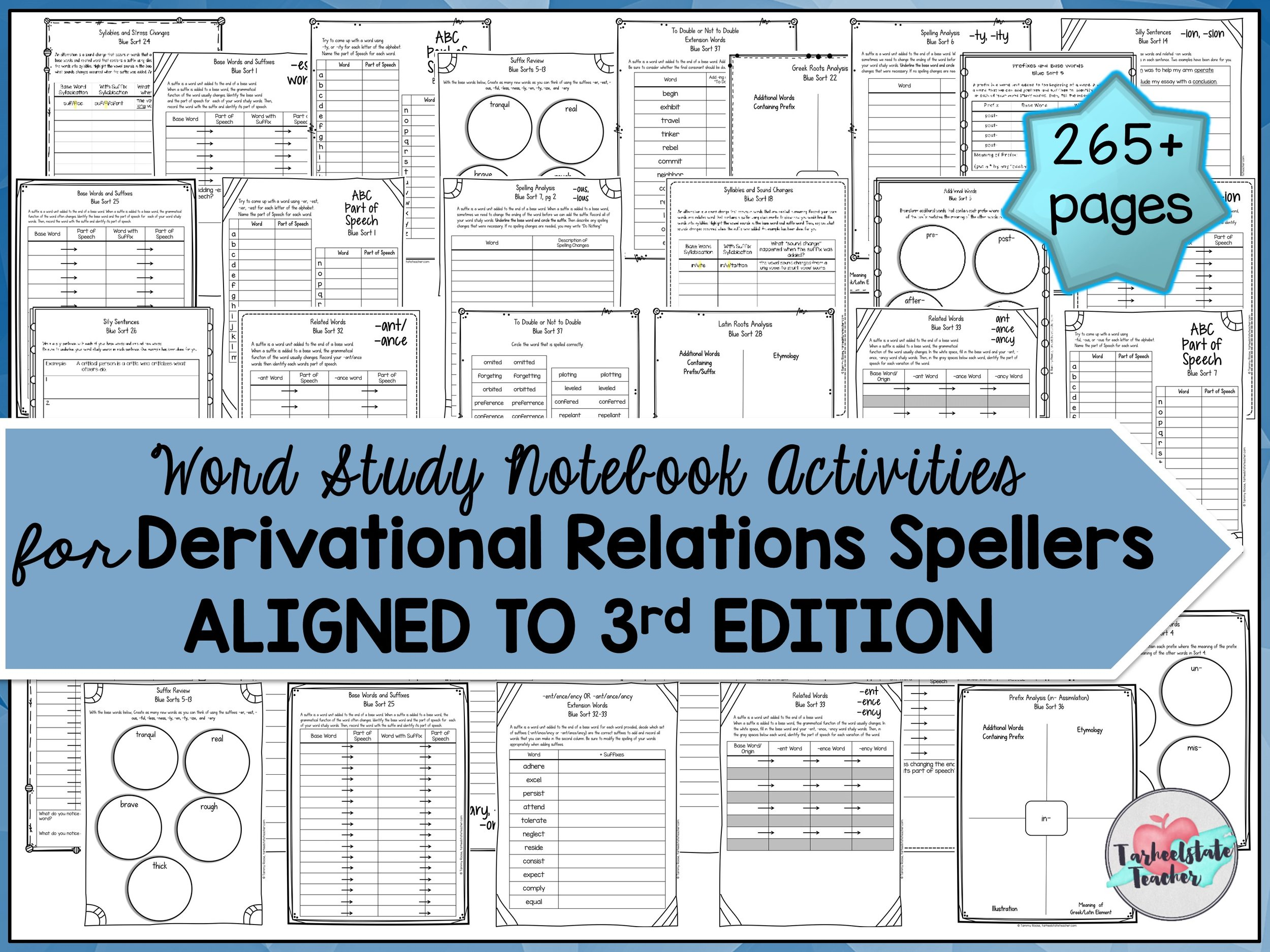 Word Study Notebook derivational relation spellers