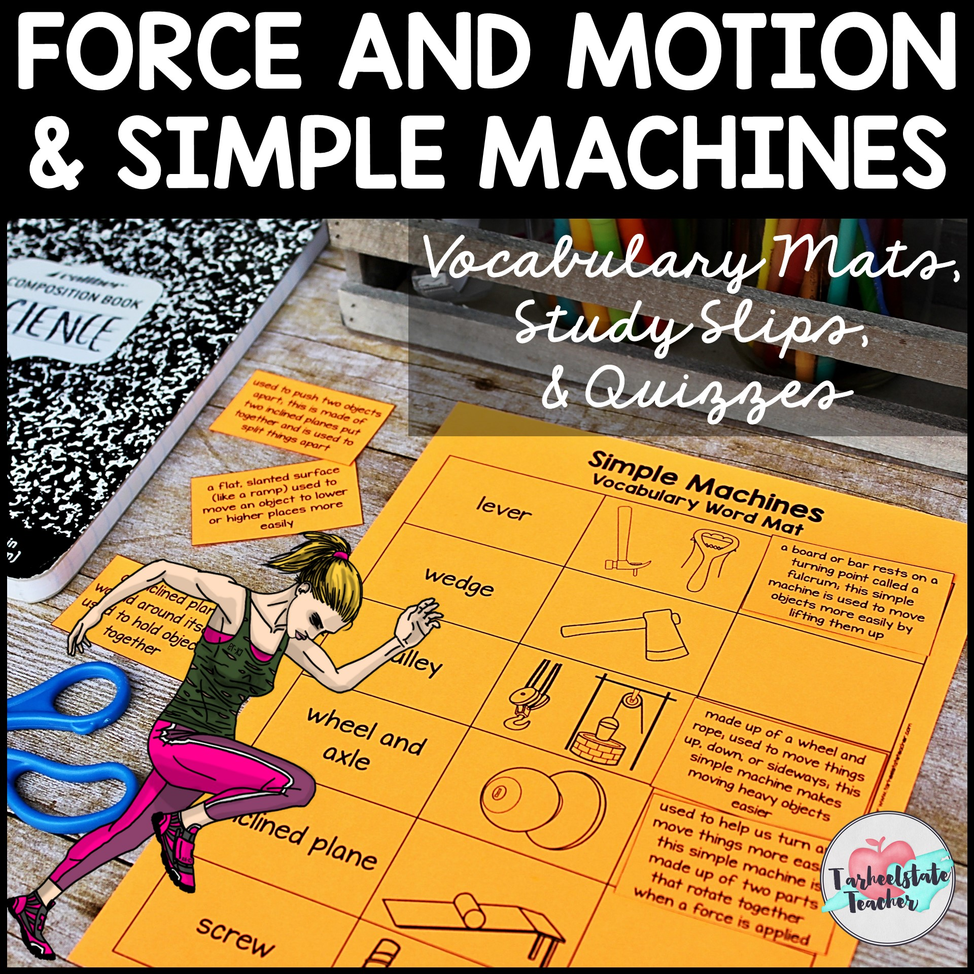 force and motion simple machines vocabulary.JPG