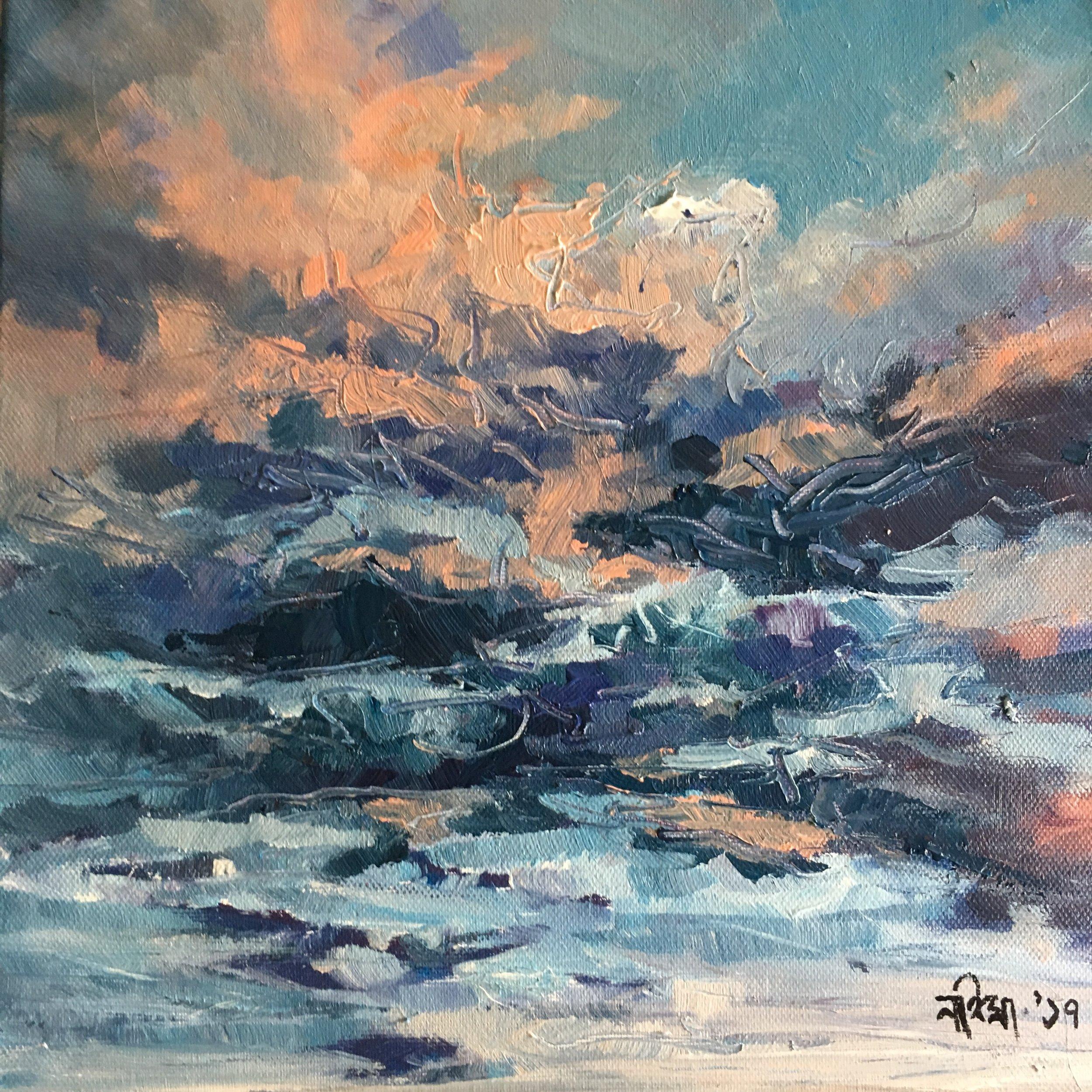 Acrylic on Canvas  30 x 30 cm