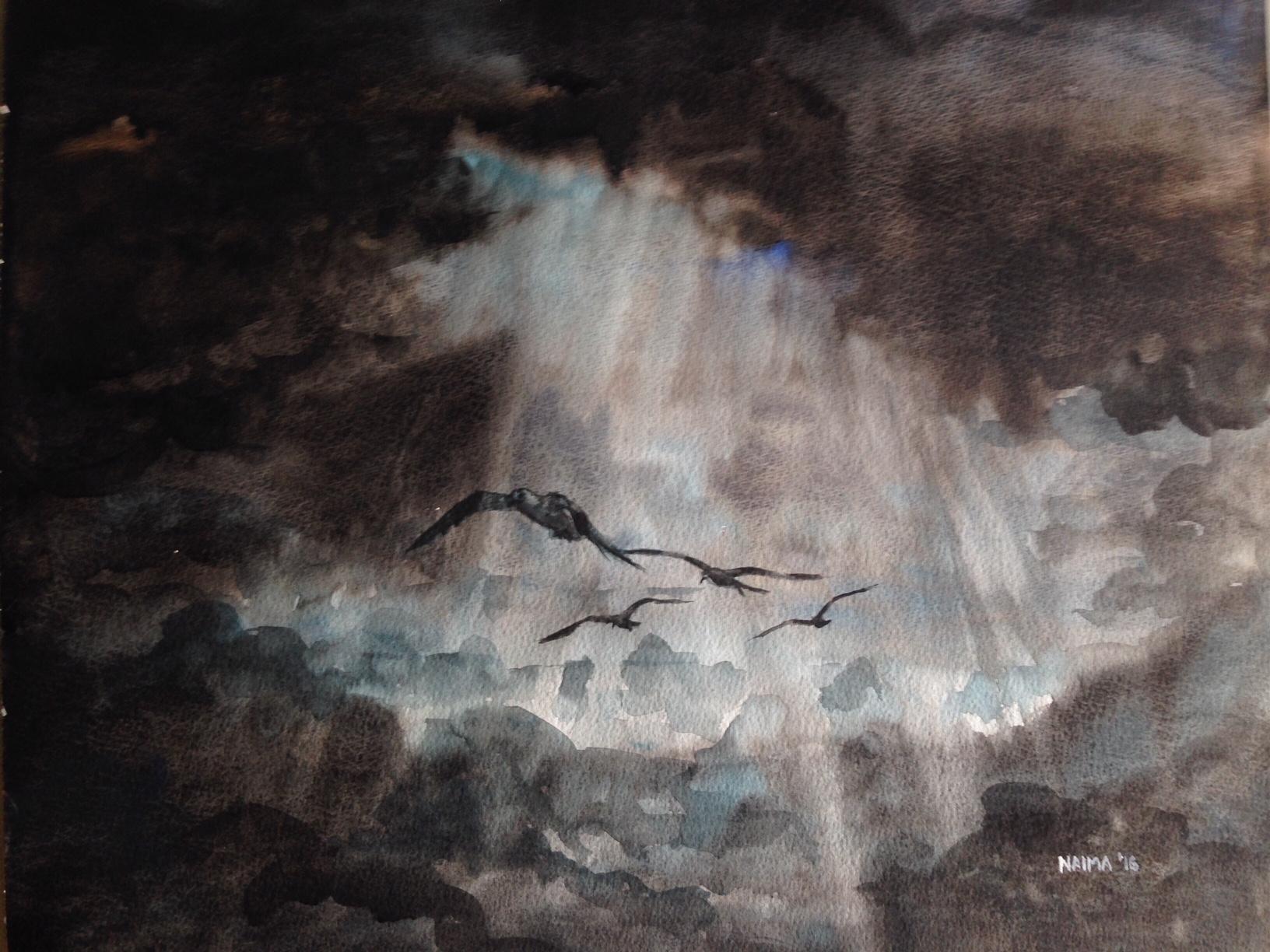 Watercolor  30 x 42 cm  SOLD