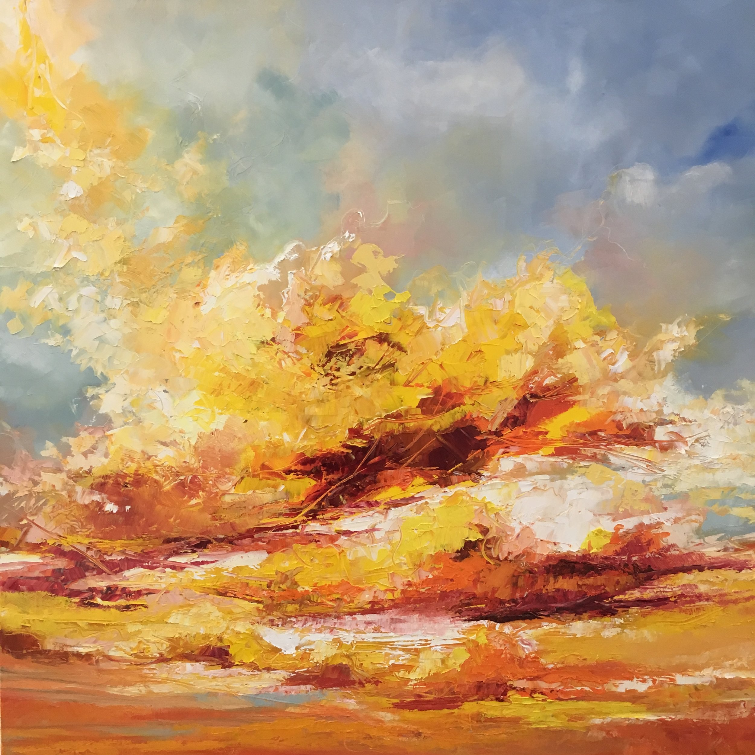 Oil on Canvas  90 x 90 cm