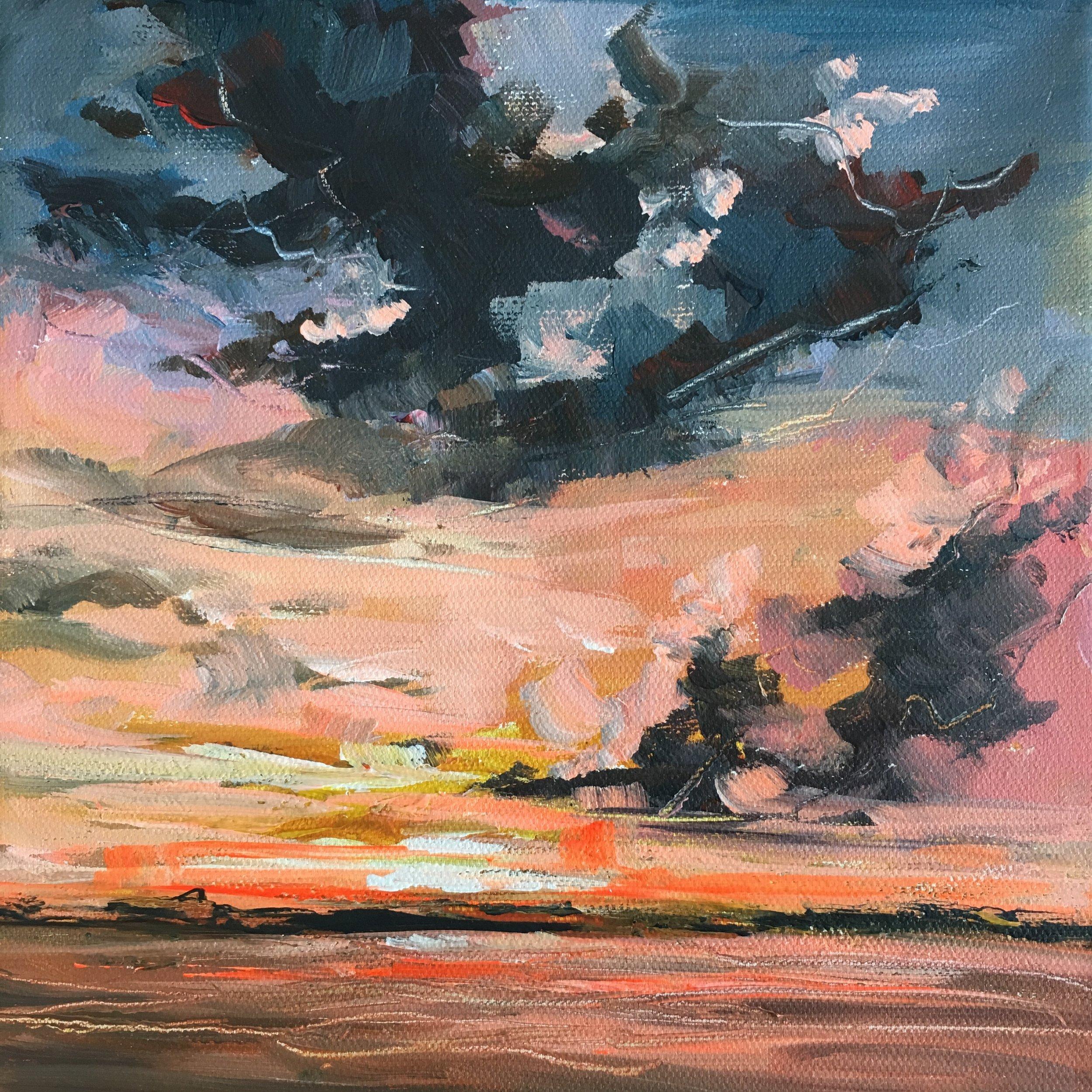Acrylic on Canvas  20 x 20 cm  SOLD