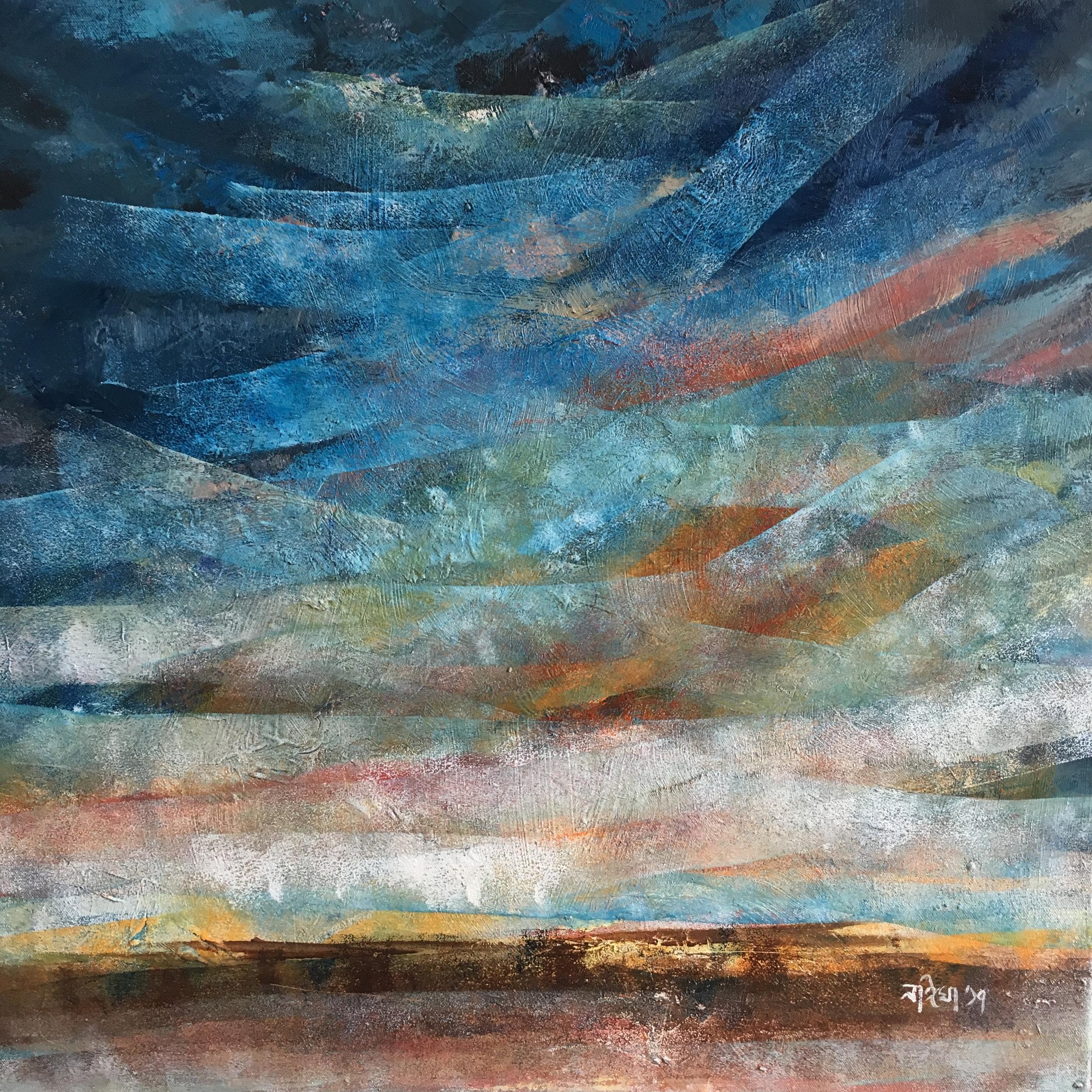 Acrylic on Canvas  60 x 60 cm  SOLD