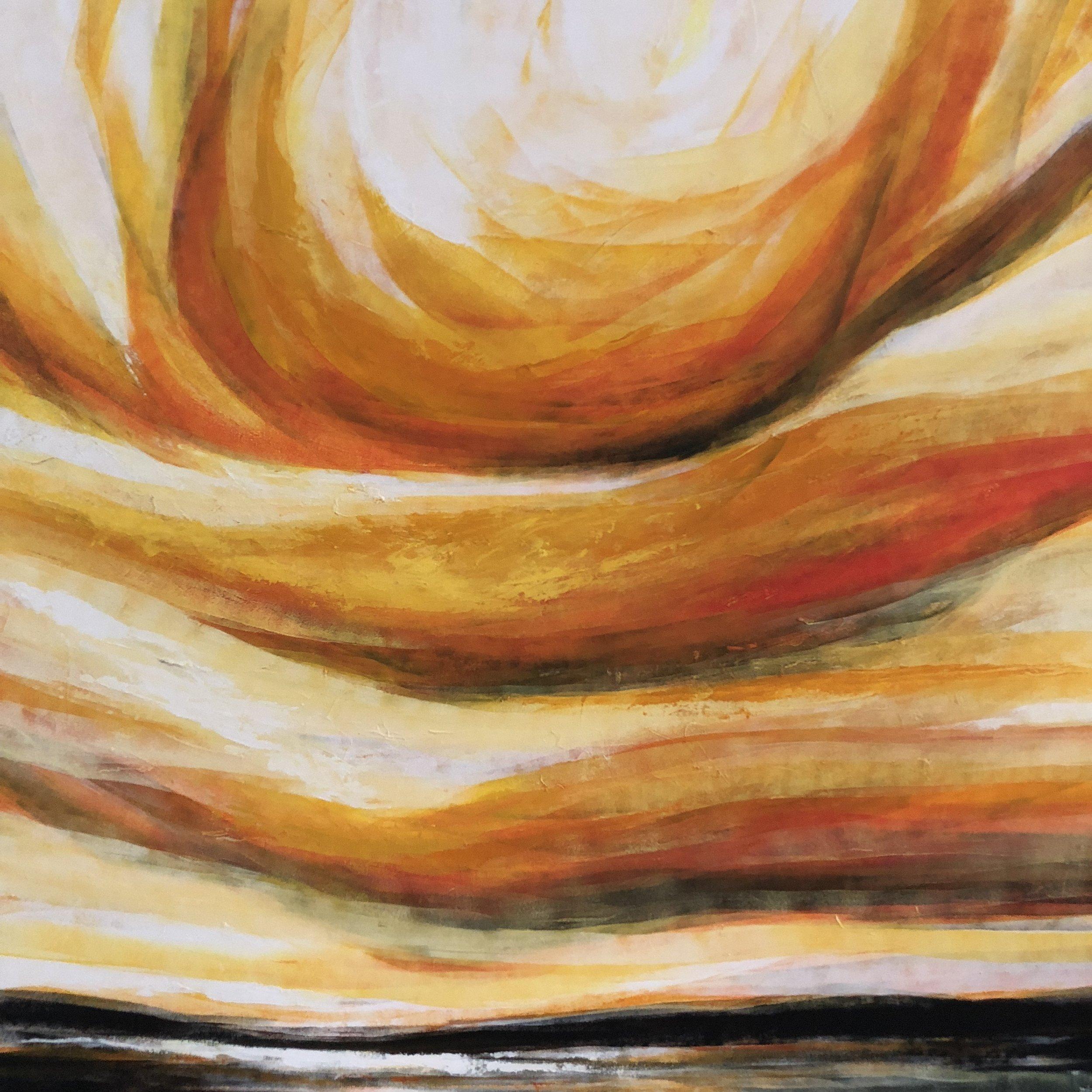 Acrylic on Canvas  150 x 150 cm