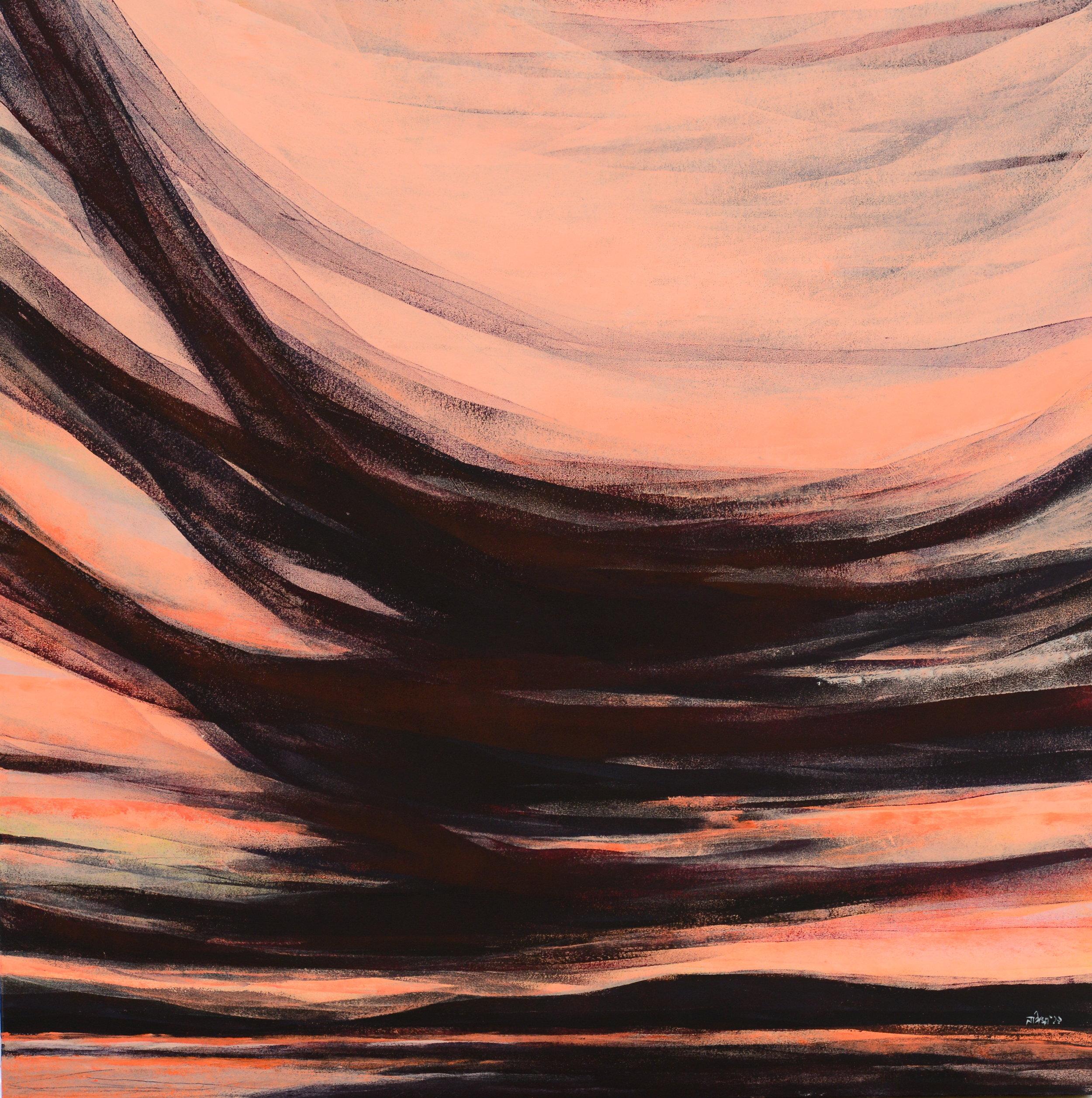 Acrylic on Canvas  90 x 90 cm