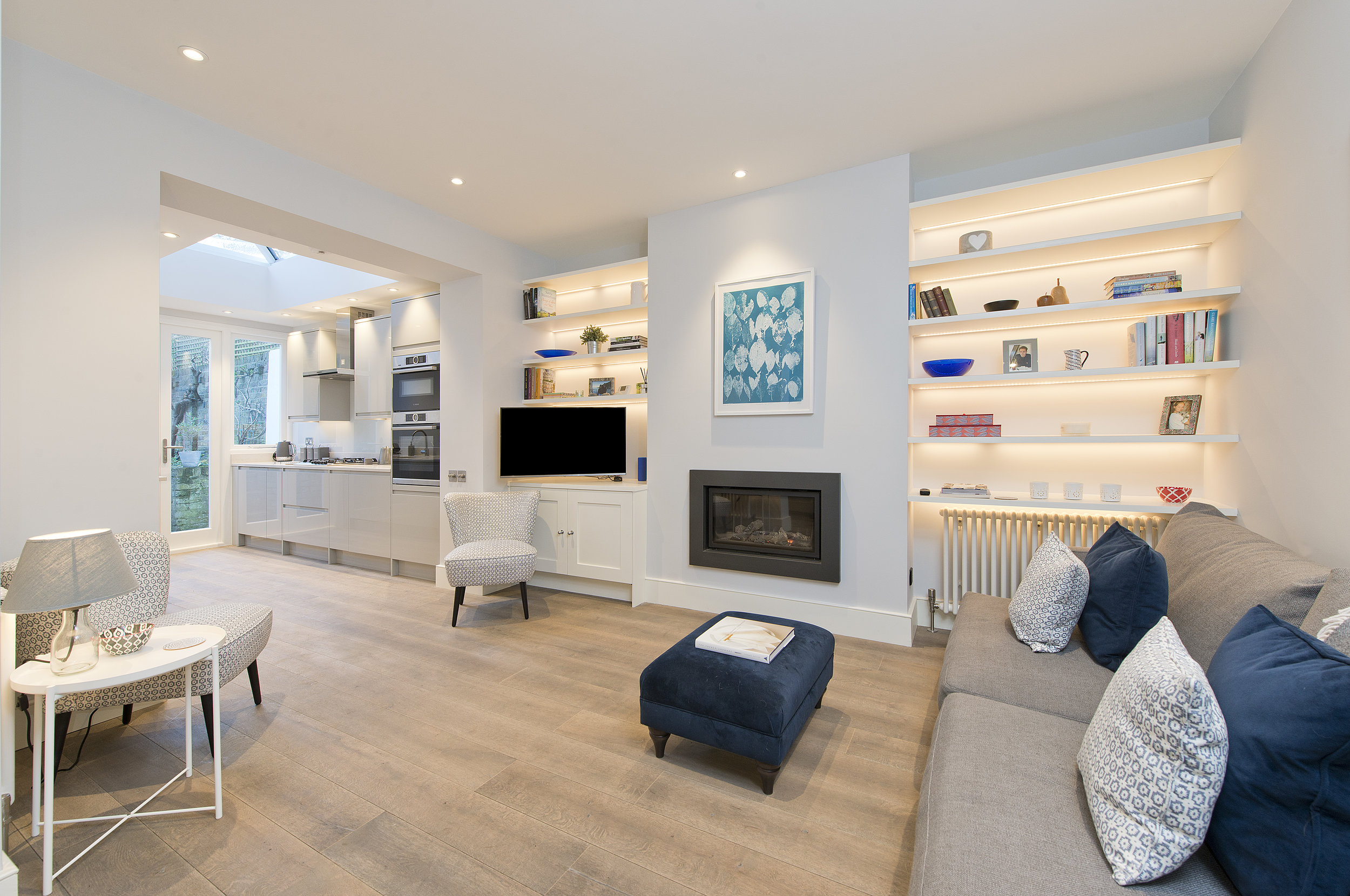 Living Room Renovation in Brook Green, London W14  by The Kitchen and Loft Company