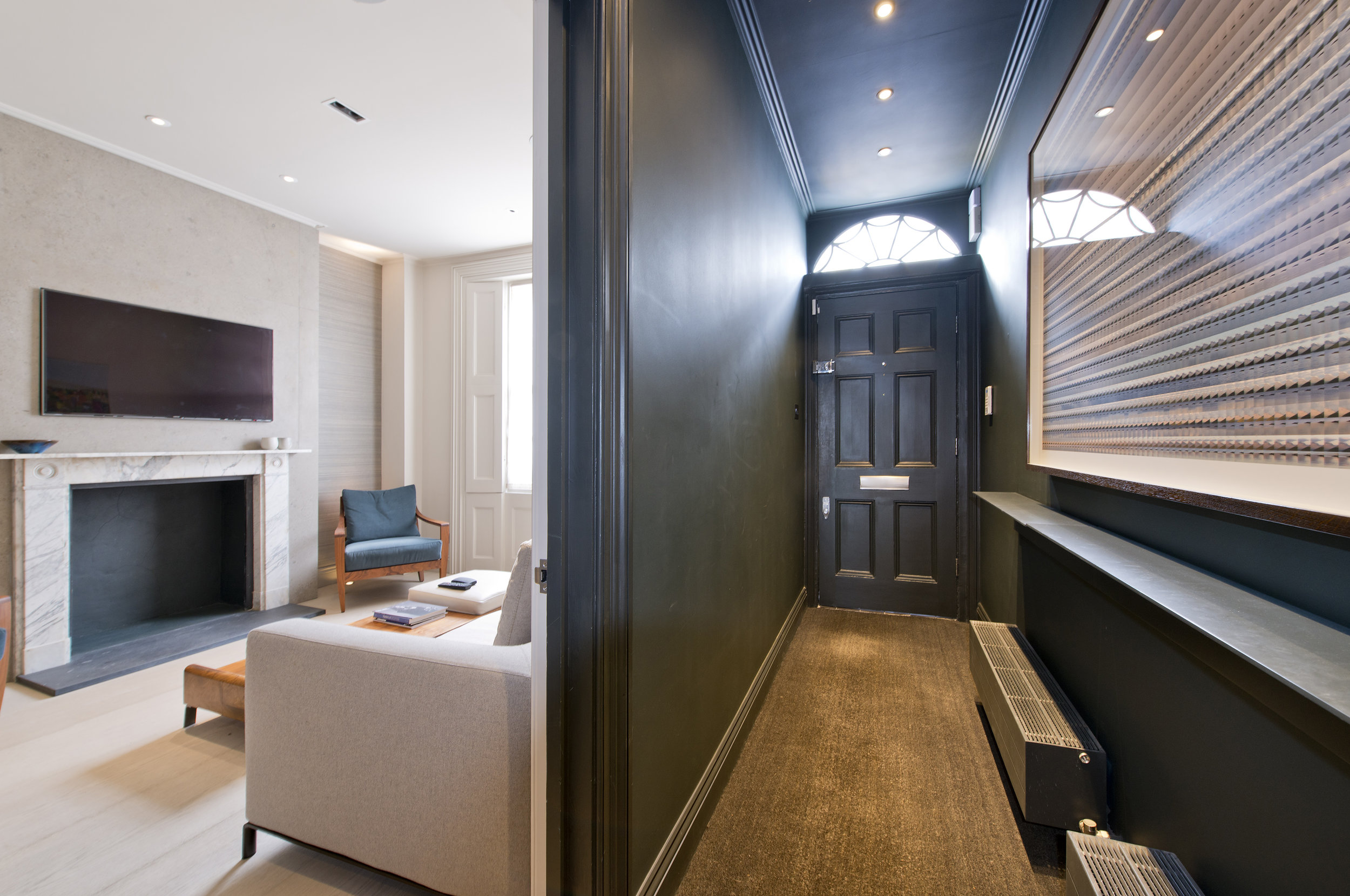 Entrance Hall, bespoke design, Chelsea, The Kitchen and Loft Company.