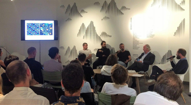 De gauche à droite : Jonathan Omar et Lionel Dinis Salazar - Döppel Studio, Julien Colombier, Patrick Frey - Pierre Frey et Pierre-Edouard Martial - NellyRodi