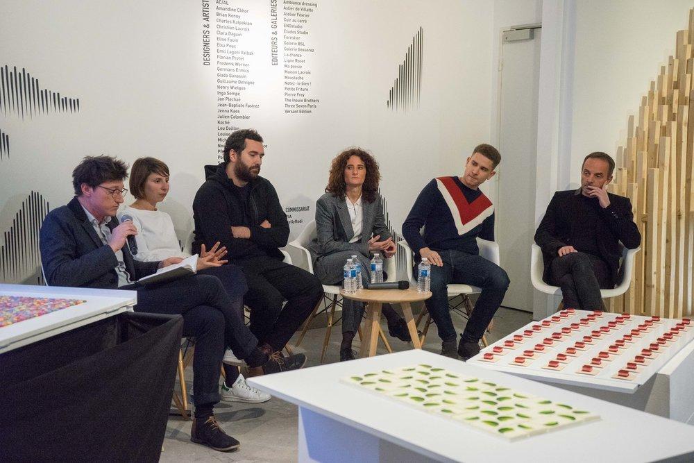 De gauche à droite : Germain Bourré, Julie Rothhahn, Alexandre Poisson - Belafonte, Marion Chatel-Chaix - Studio Exquisite, Tarek Ahamada - Park Hyatt Paris-Vendôme et Stéphane Bureaux