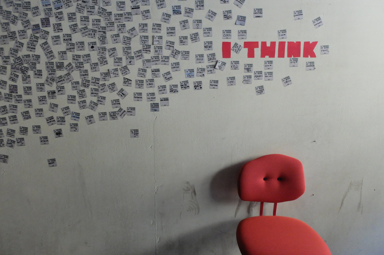 I think therefore I was and Maarten Baas chair by Maarten Baas. LENSVELT