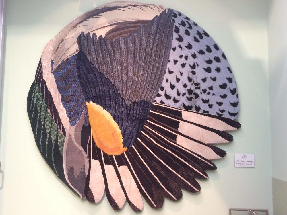 Feathers rug by Maarten de Ceulaer. CC-TAPIS