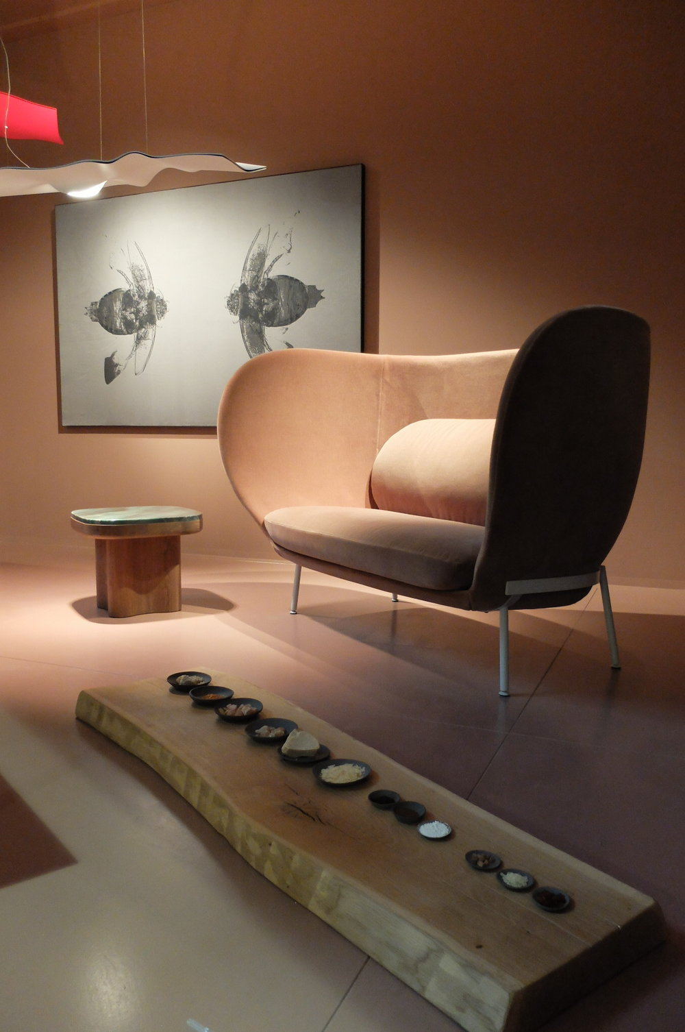 Sofa by Doshi Levien and natural resins, waxes and pigments. SCHOTTEN & HANSEN + MOROSO