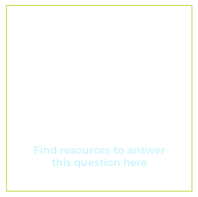 """Graphic of a lightbulb with text below it that says """"What employment services are available to me? Find resources to answer this question here"""""""