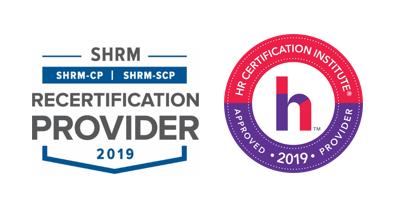 Logos for SHRM and HRCI certifications
