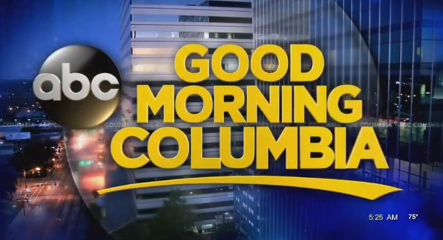 Screencap of the Good Morning Columbia title card